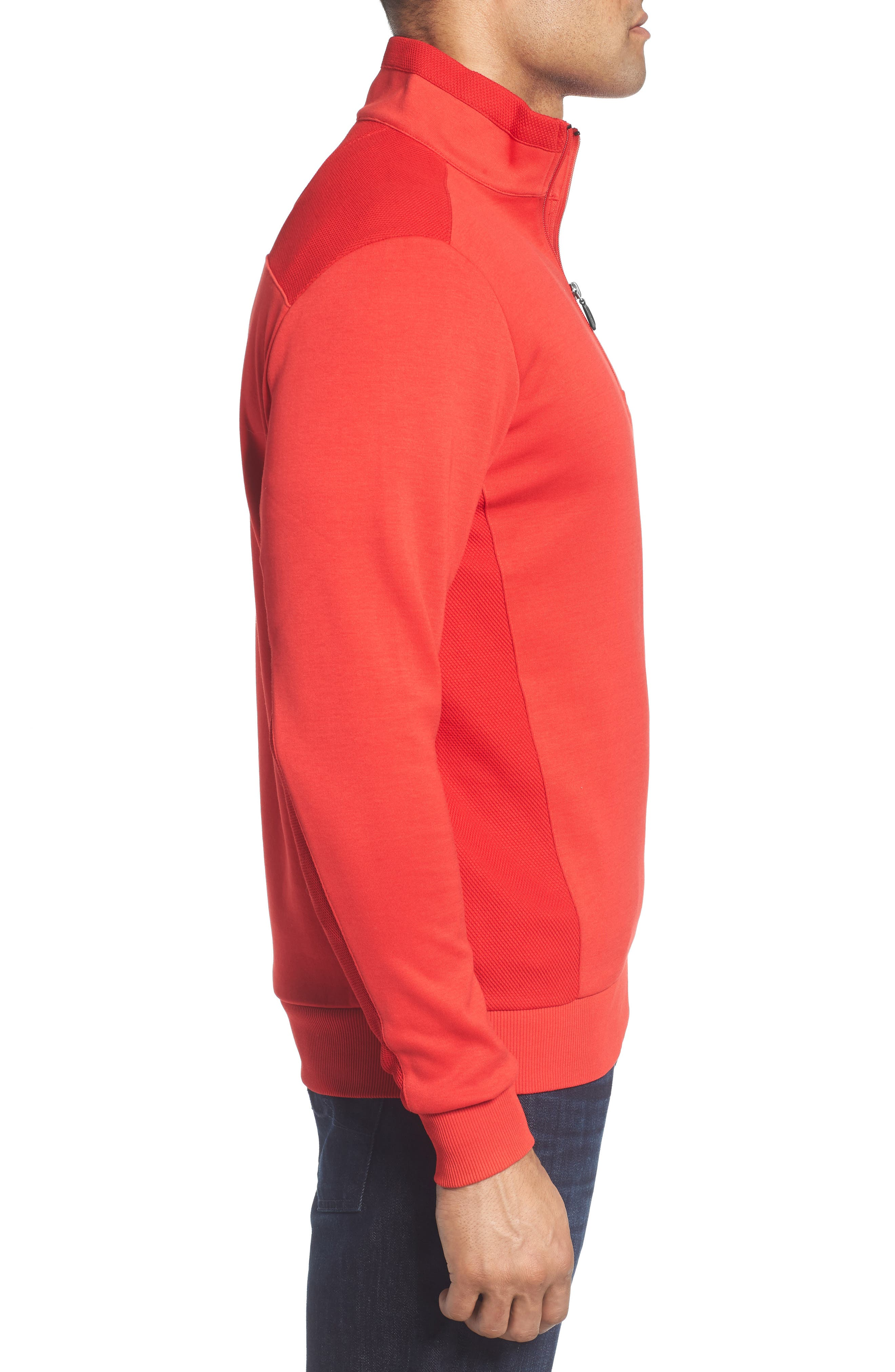 Regular Fit Knit Quarter Zip Pullover,                             Alternate thumbnail 12, color,