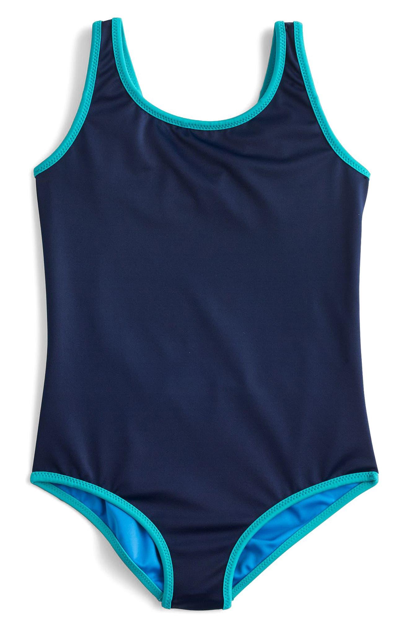 Reversible One-Piece Swimsuit,                             Alternate thumbnail 3, color,                             401