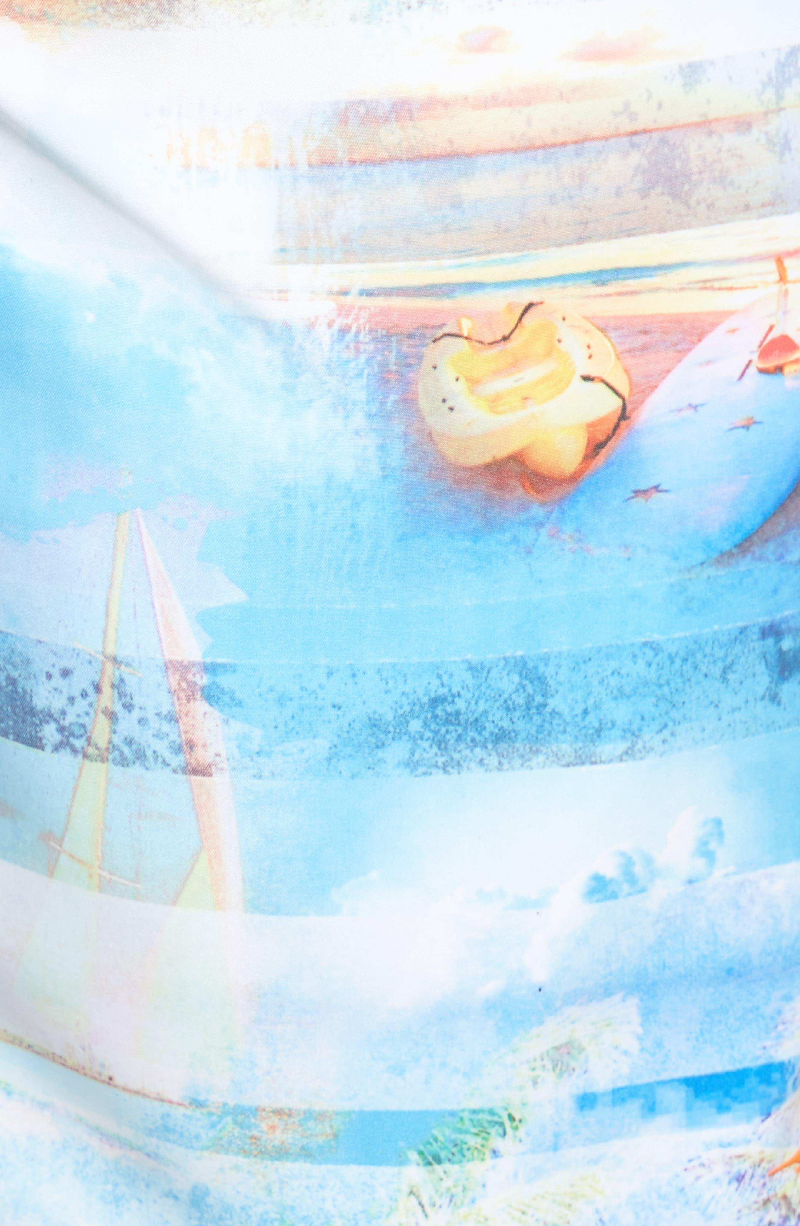 Baja Electric Beach Swim Trunks,                             Alternate thumbnail 5, color,                             400