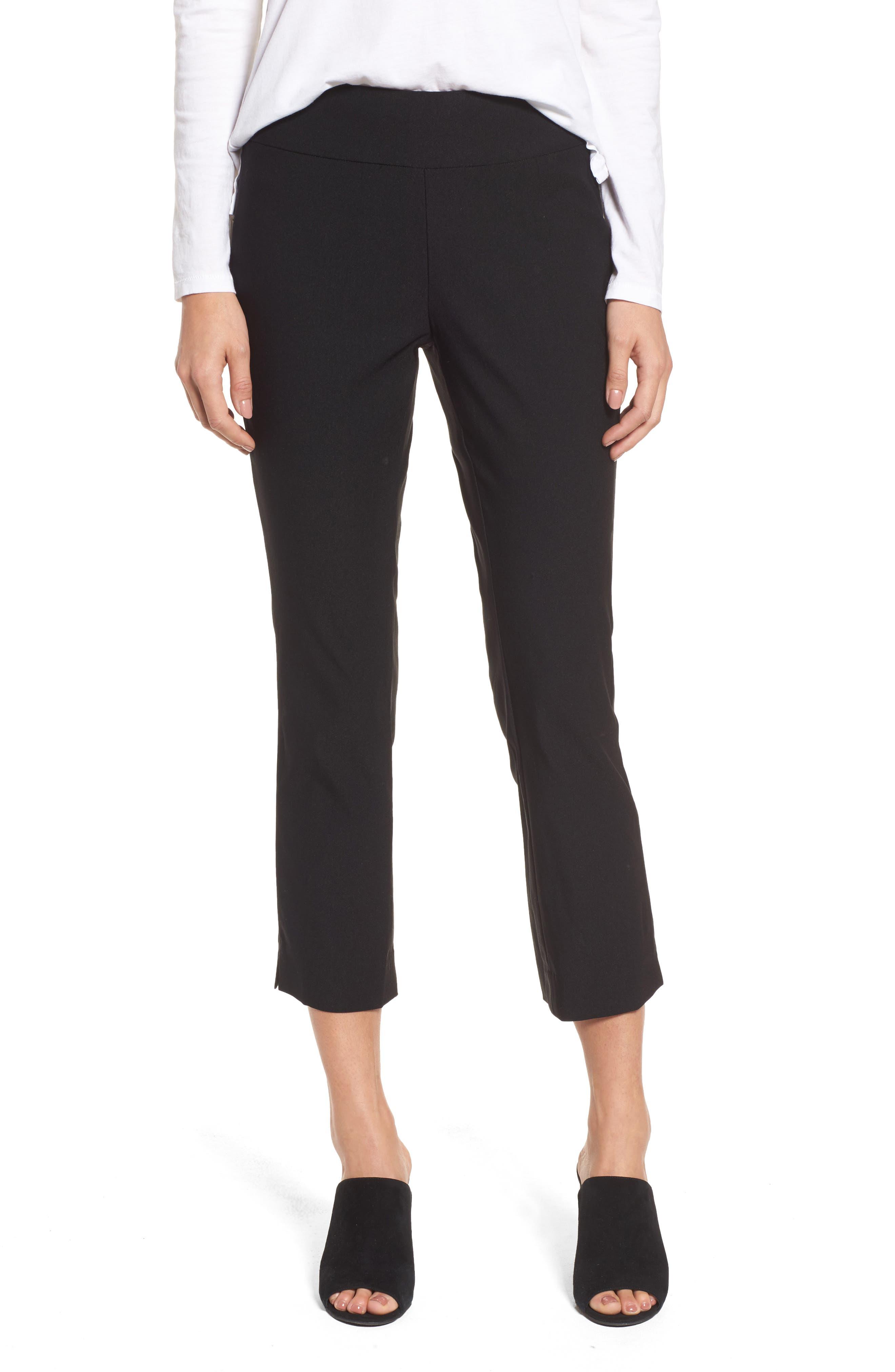 Wonder Stretch Crop Pants,                         Main,                         color, BLACK ONYX