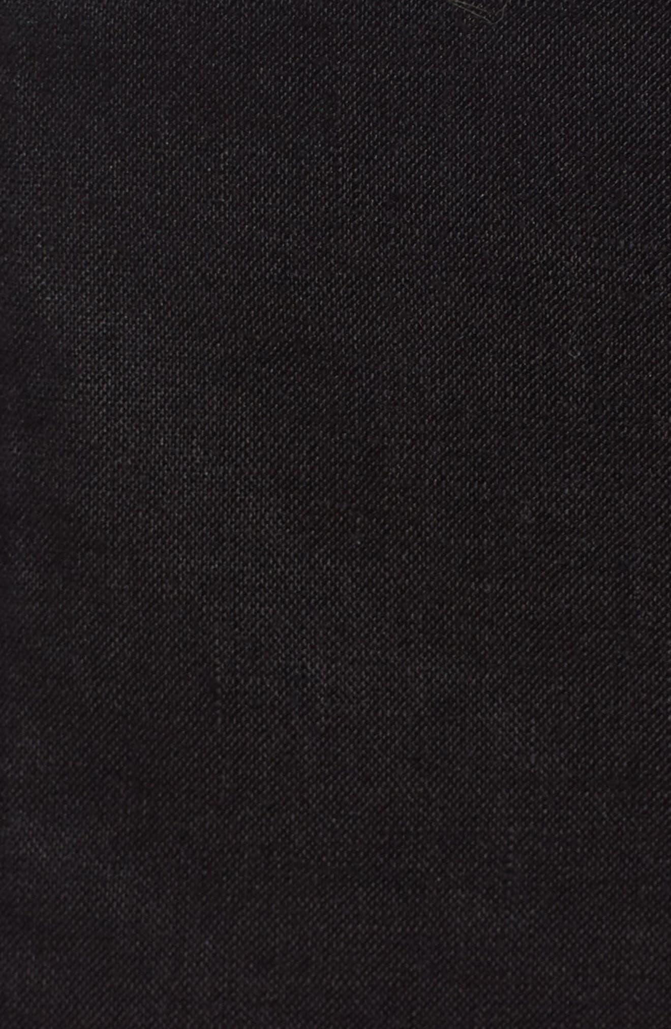 EILEEN FISHER,                             Organic Linen City Shorts,                             Alternate thumbnail 5, color,                             001