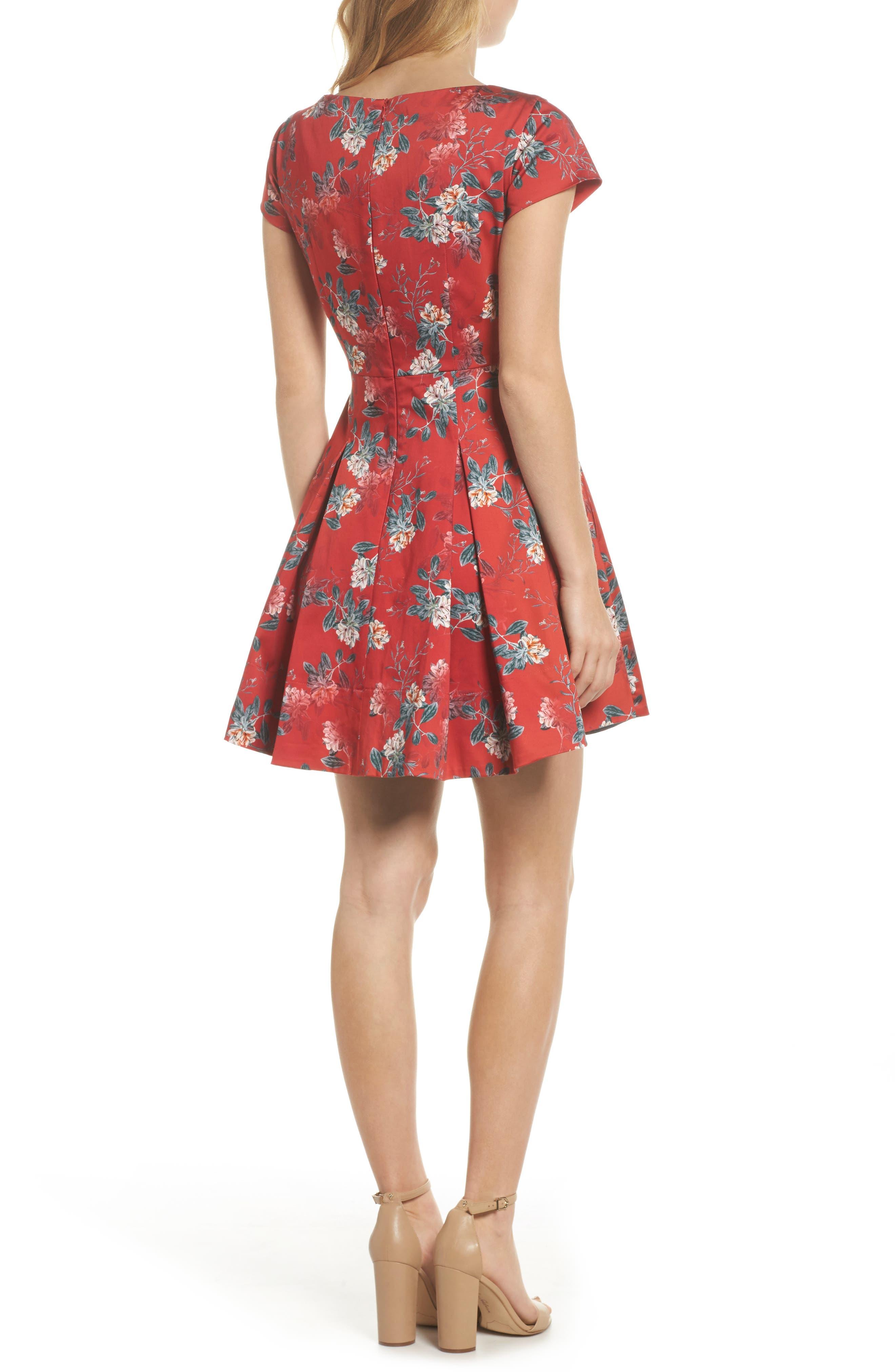 Kioa Fit & Flare Dress,                             Alternate thumbnail 4, color,