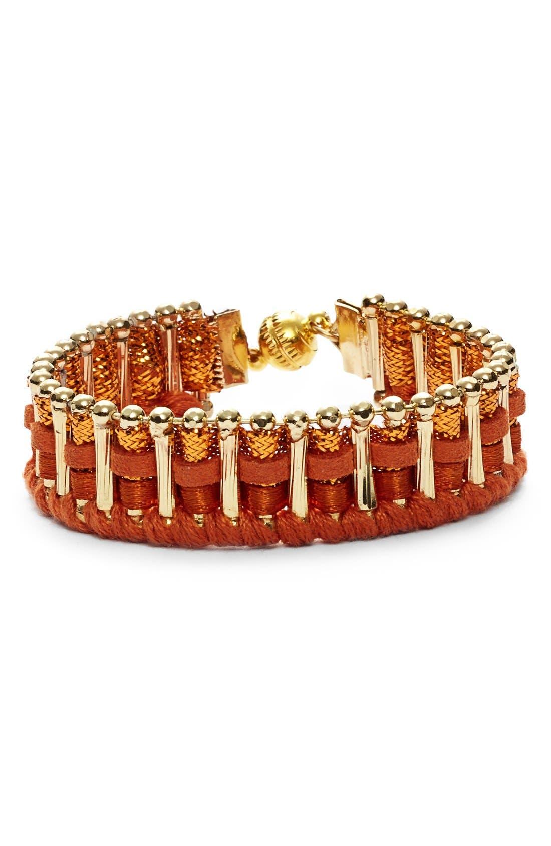 NORDSTROM,                             Woven Bracelet,                             Main thumbnail 1, color,                             200