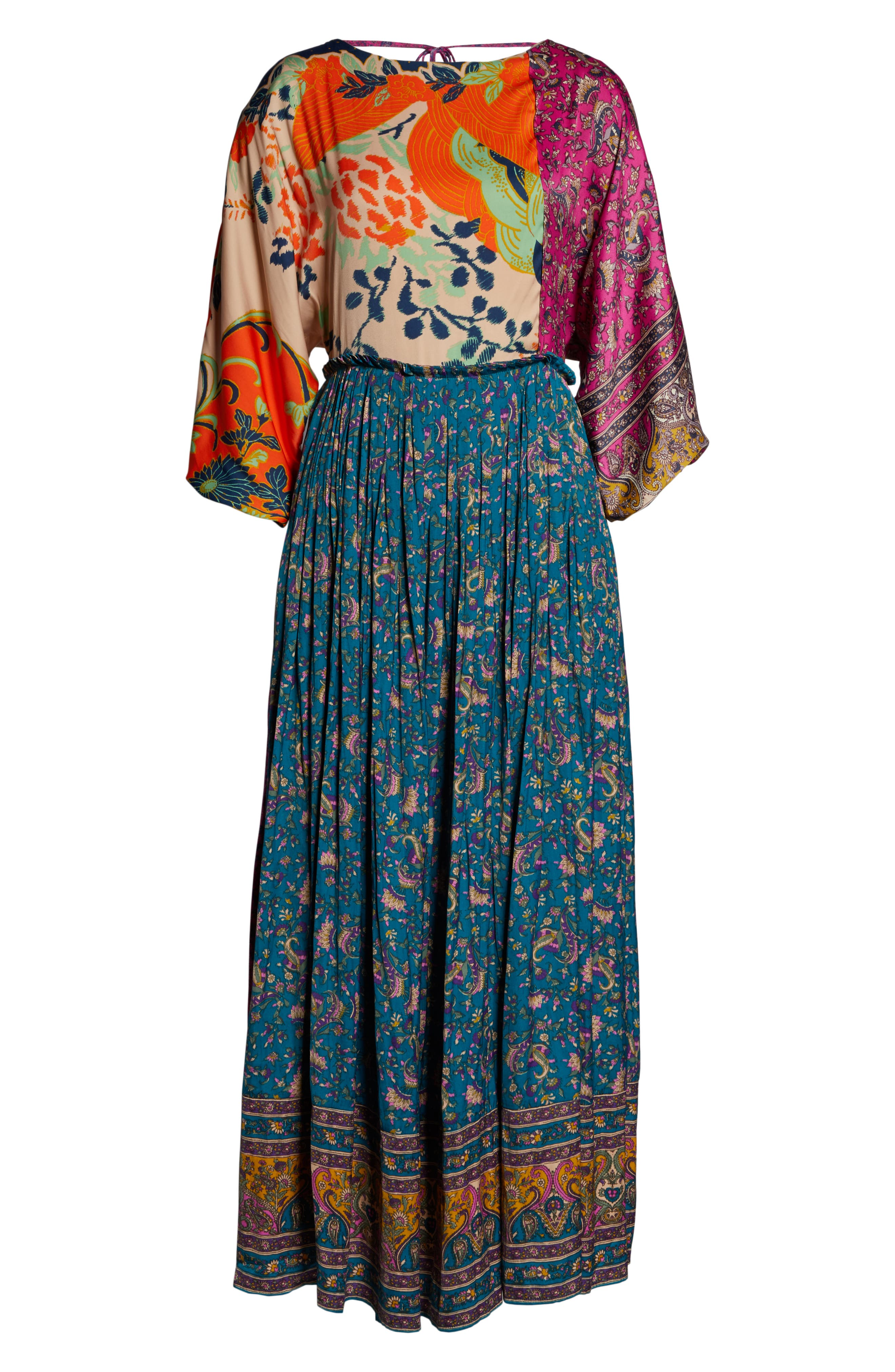 FREE PEOPLE,                             What You Want Maxi Dress,                             Alternate thumbnail 8, color,                             MULTI