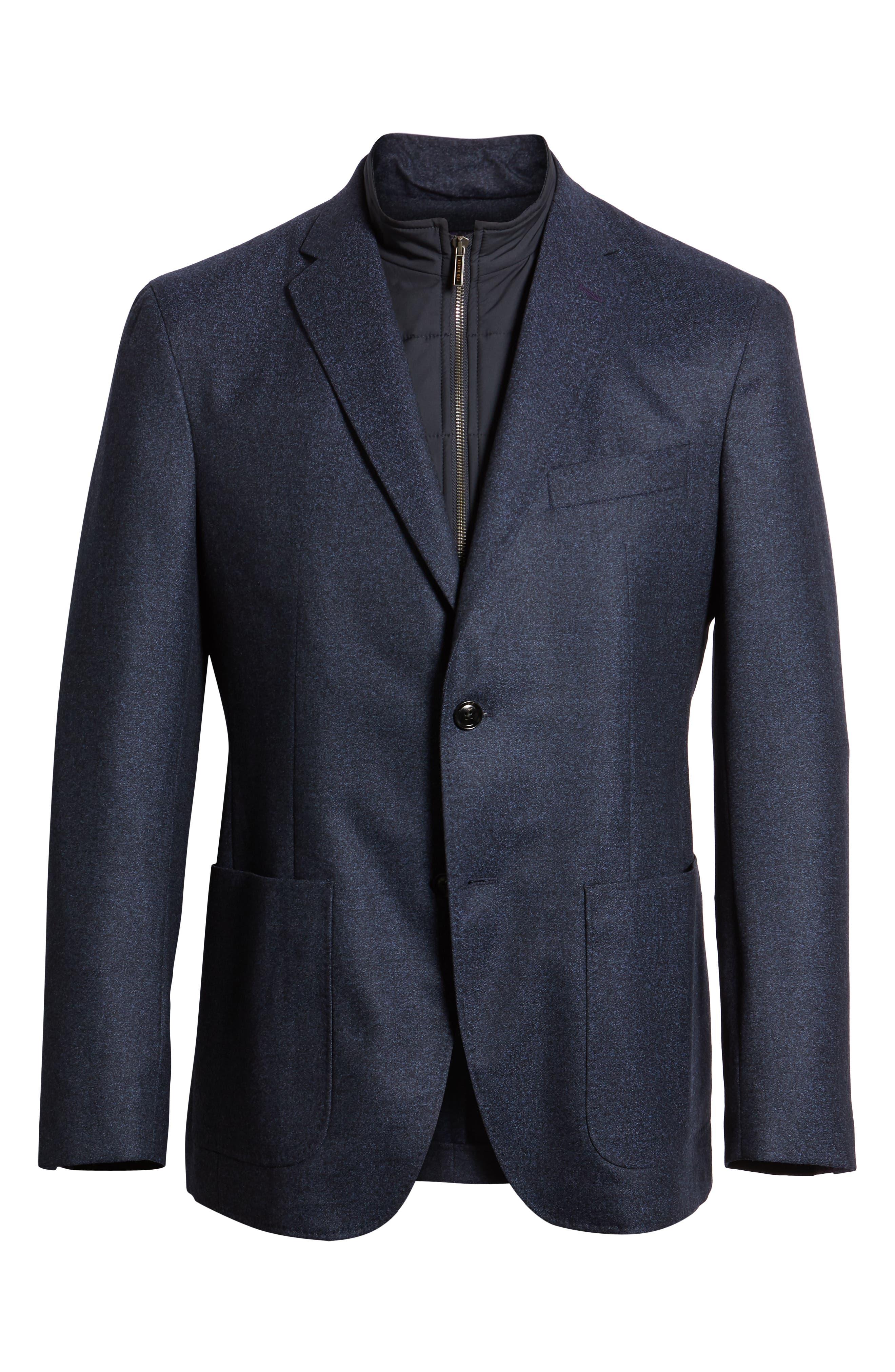 Tucker Trim Fit Wool Blazer,                             Alternate thumbnail 5, color,                             BLUE