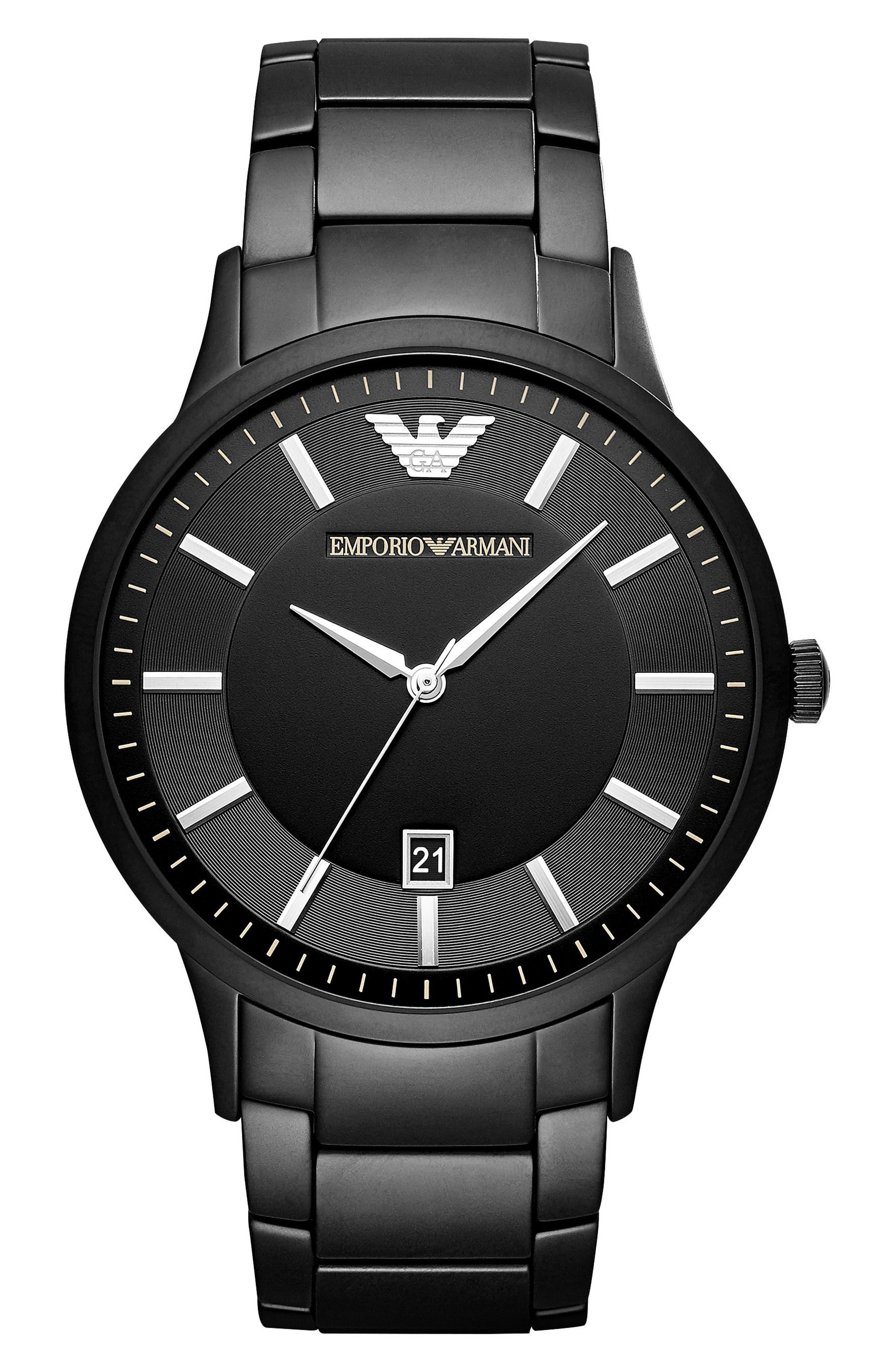 Round Bracelet Watch, 43mm,                             Main thumbnail 1, color,                             001