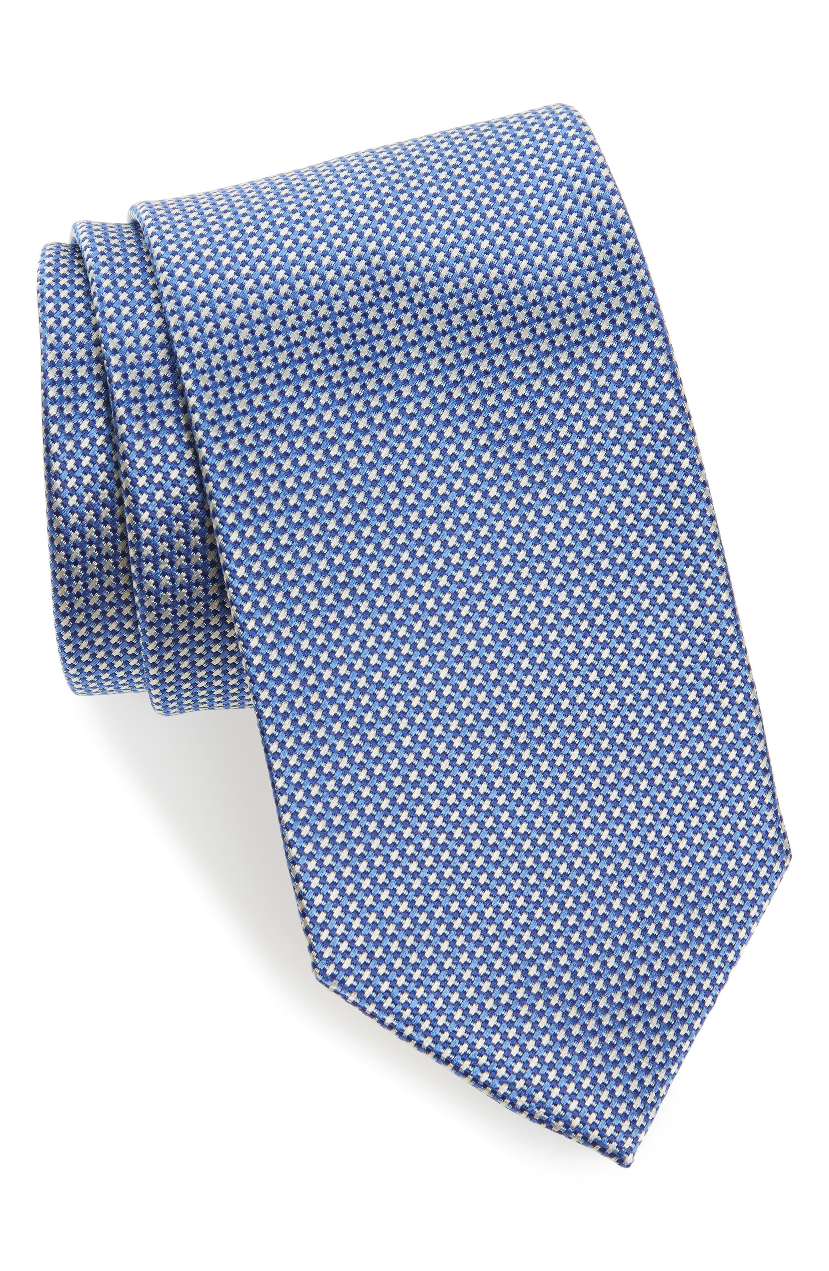 Geometric Silk Tie,                         Main,                         color, 423