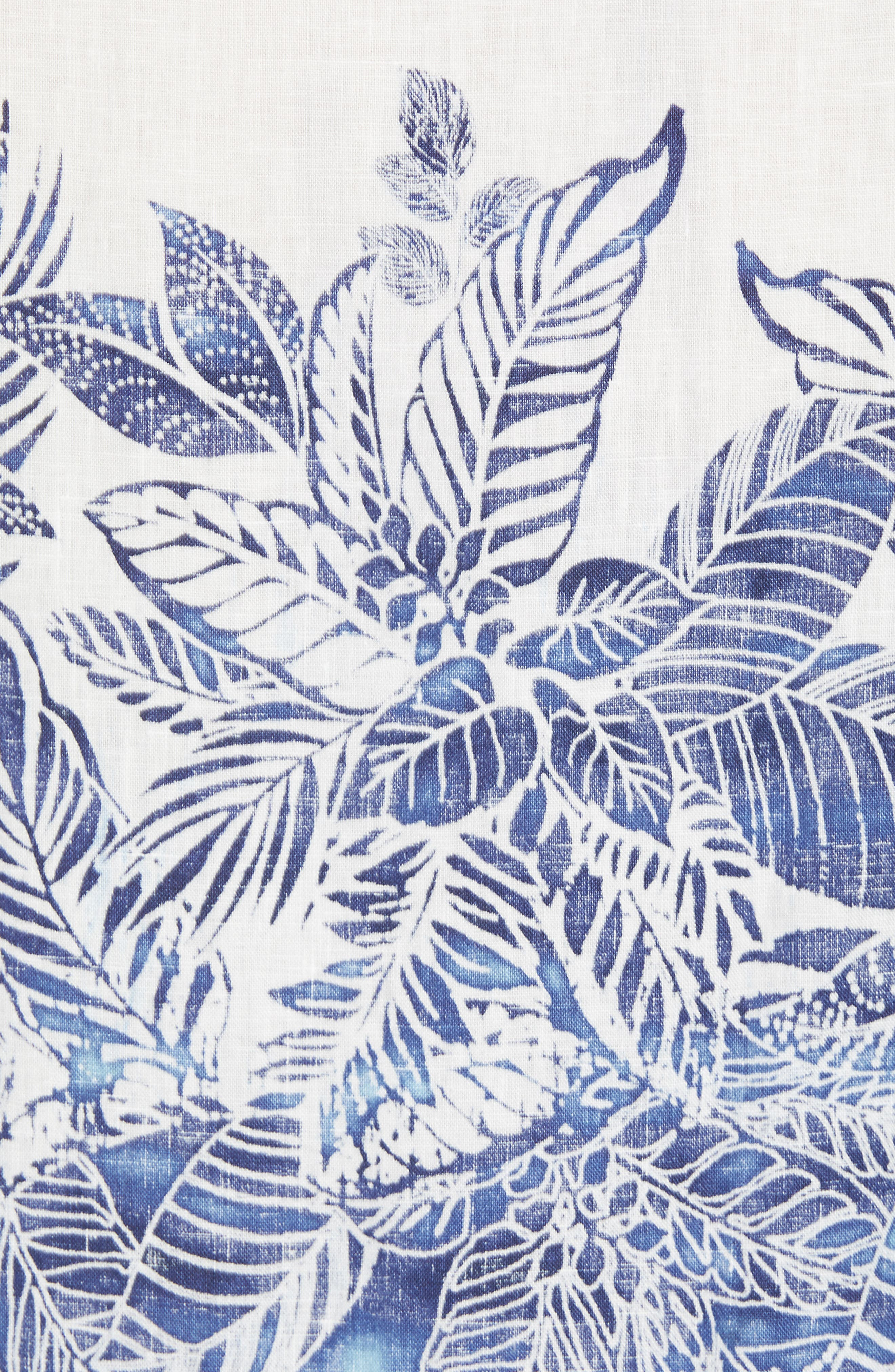 Mariachi Mirage Linen Sport Shirt,                             Alternate thumbnail 5, color,                             ECLIPSE