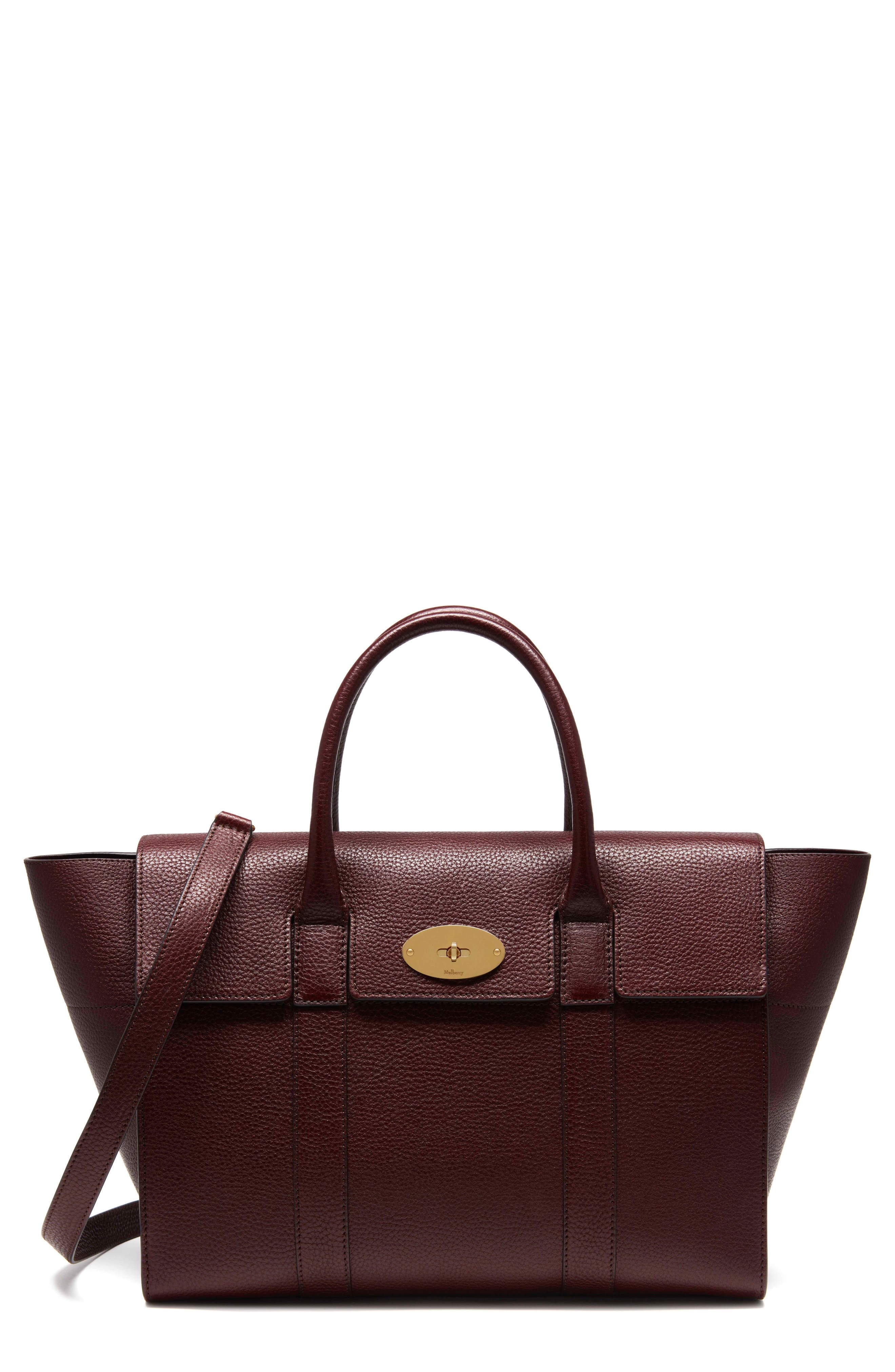 Bayswater Calfskin Leather Satchel,                             Main thumbnail 1, color,