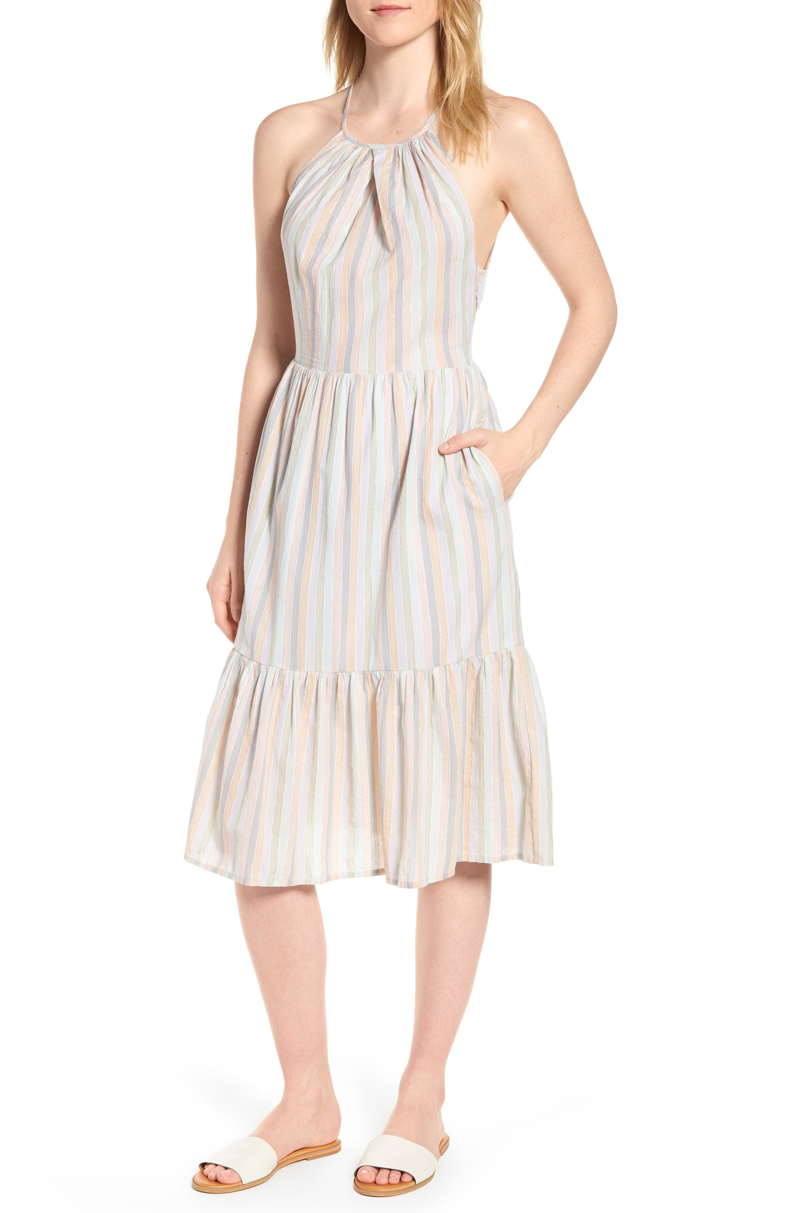 Pastel Stripe Dress,                             Main thumbnail 1, color,                             950