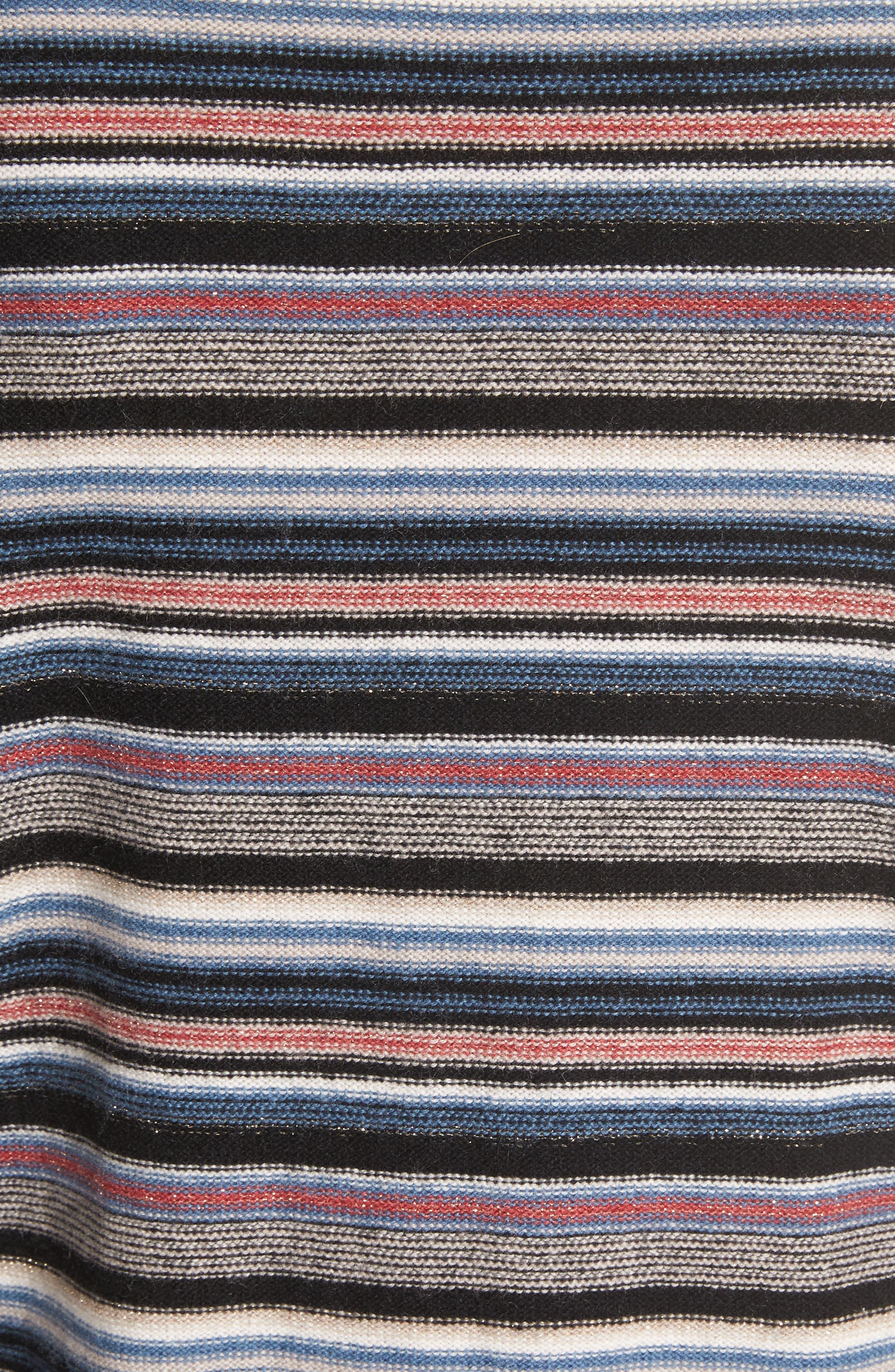 Cais C Stripe Wool & Cashmere Sweater,                             Alternate thumbnail 5, color,                             001