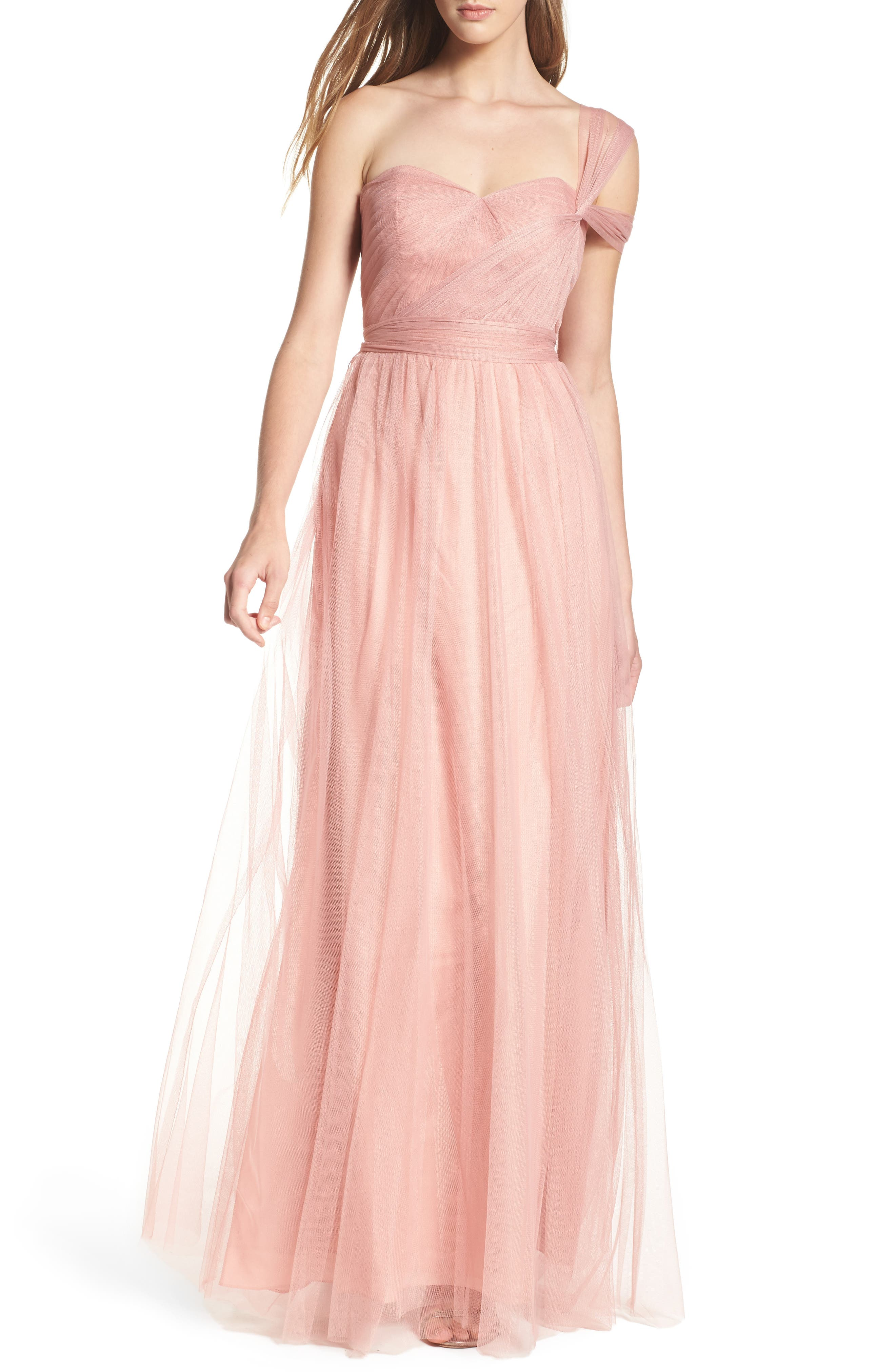 Annabelle Convertible Tulle Column Dress,                             Alternate thumbnail 42, color,