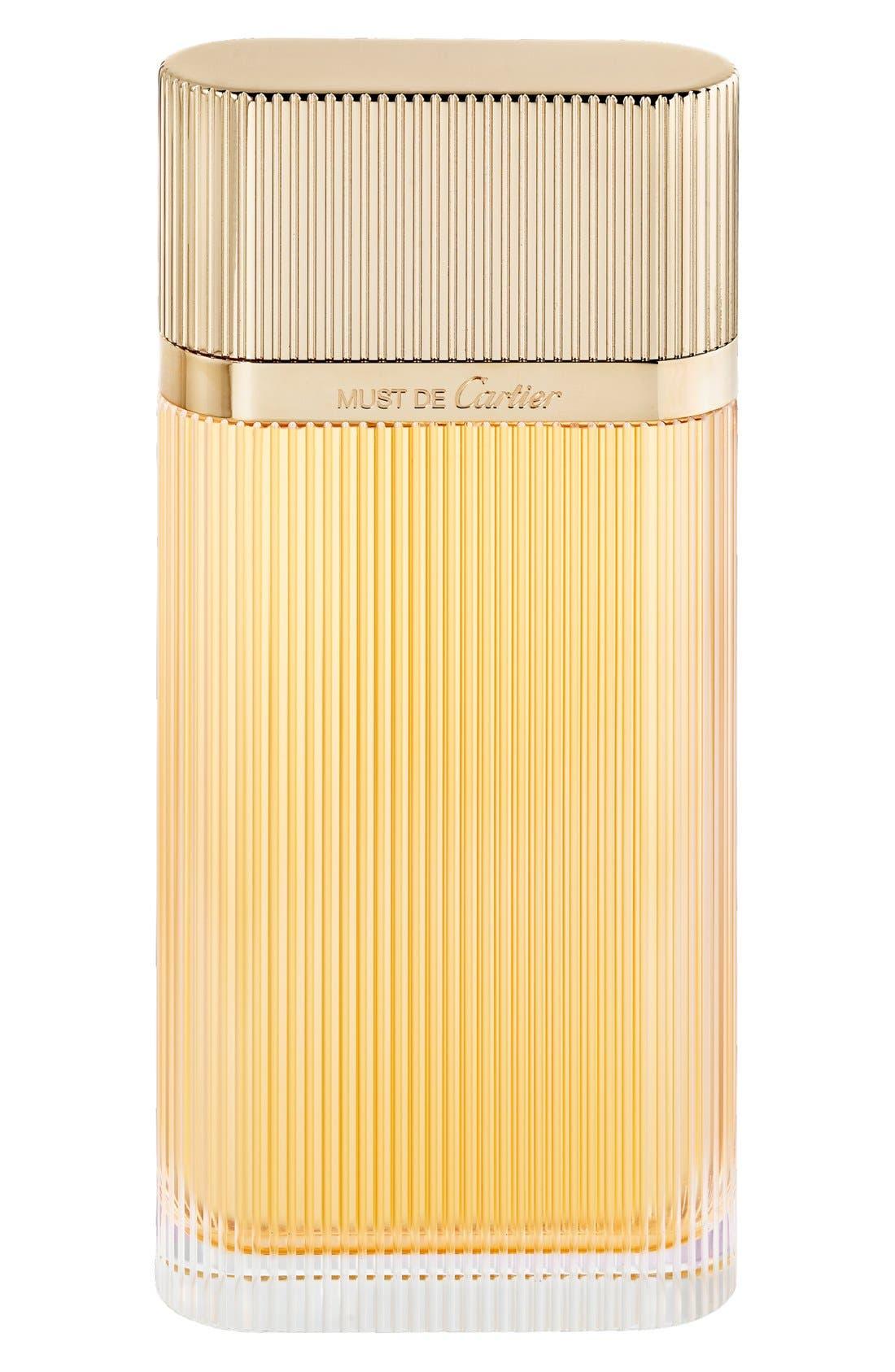 Must de Cartier Gold Eau de Parfum,                             Alternate thumbnail 2, color,                             NO COLOR