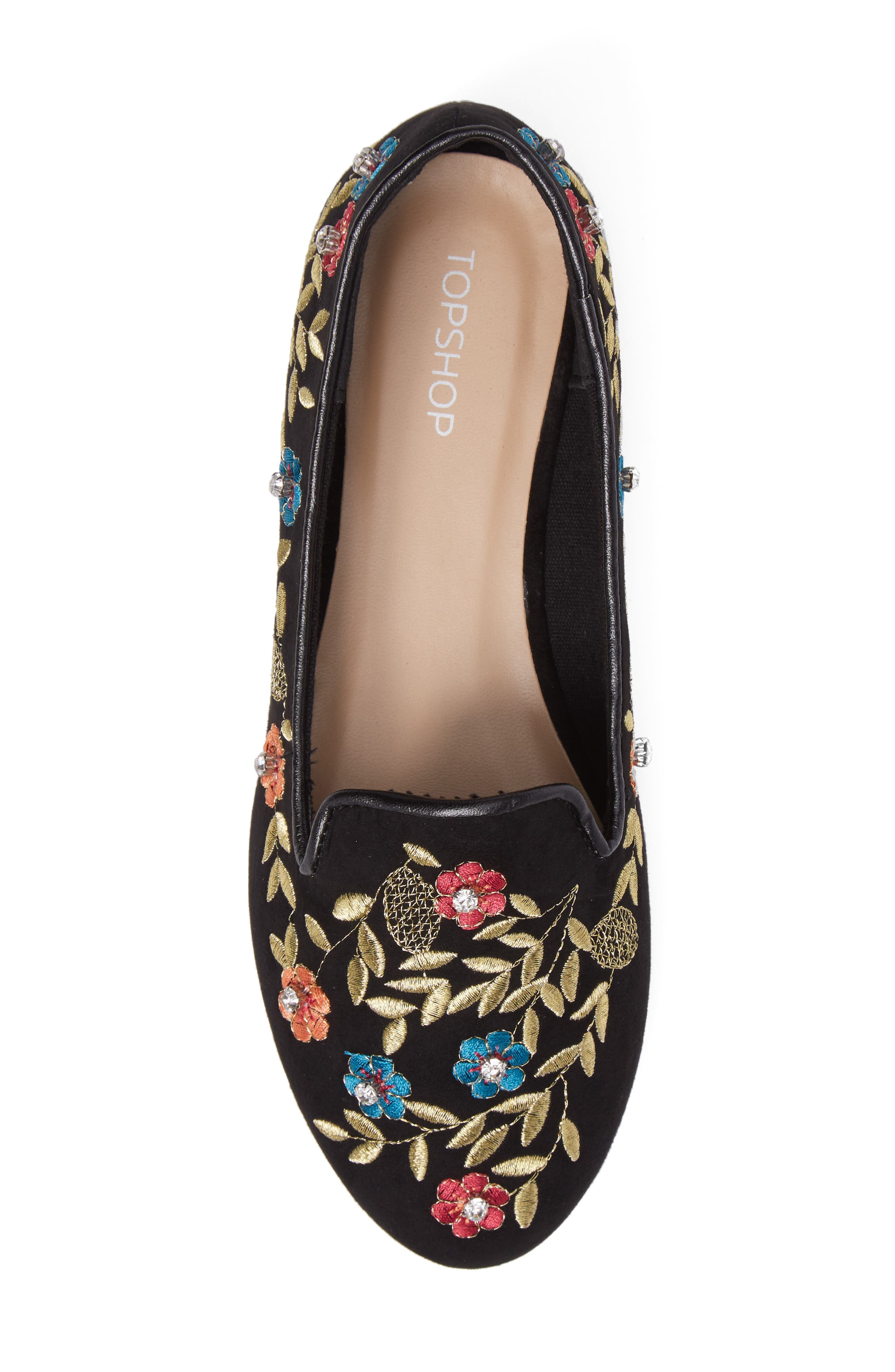 Sweetie Embroidered Loafer,                             Alternate thumbnail 5, color,                             001