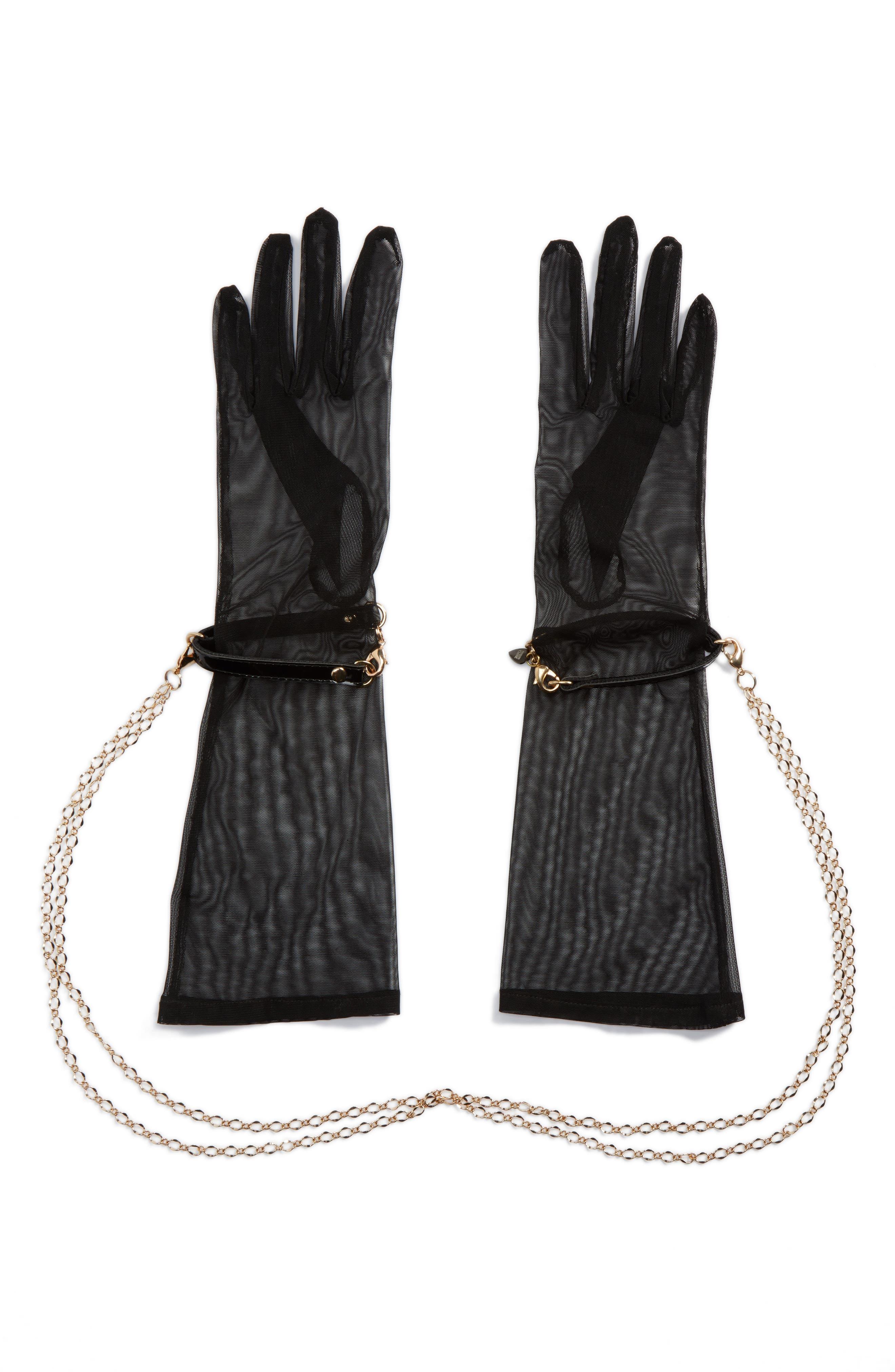 x Fräulein Kink Sheer Gloves,                             Alternate thumbnail 2, color,                             001
