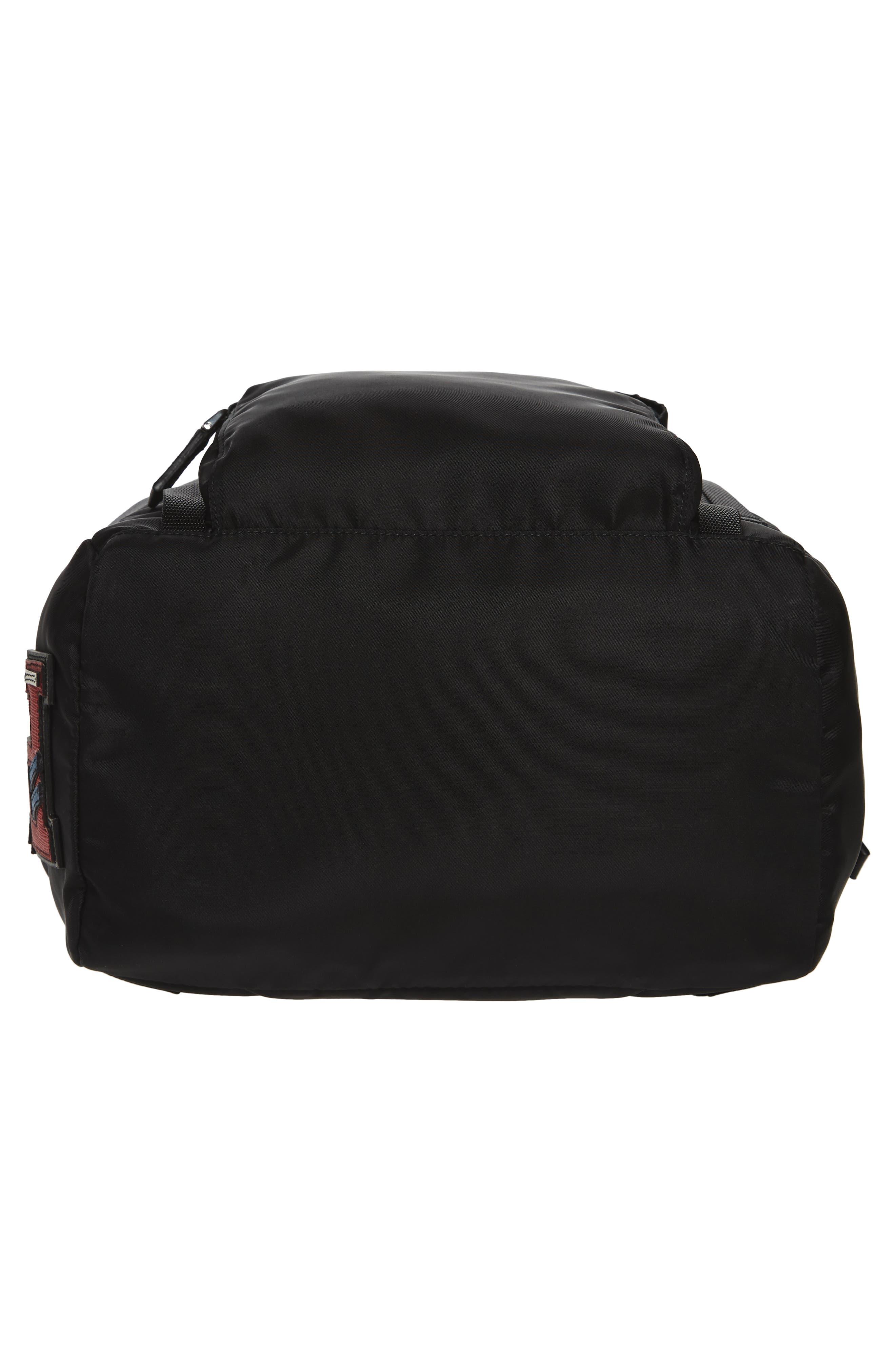 PRADA,                             Tessuto Lettering Unisex Nylon Backpack,                             Alternate thumbnail 6, color,                             001