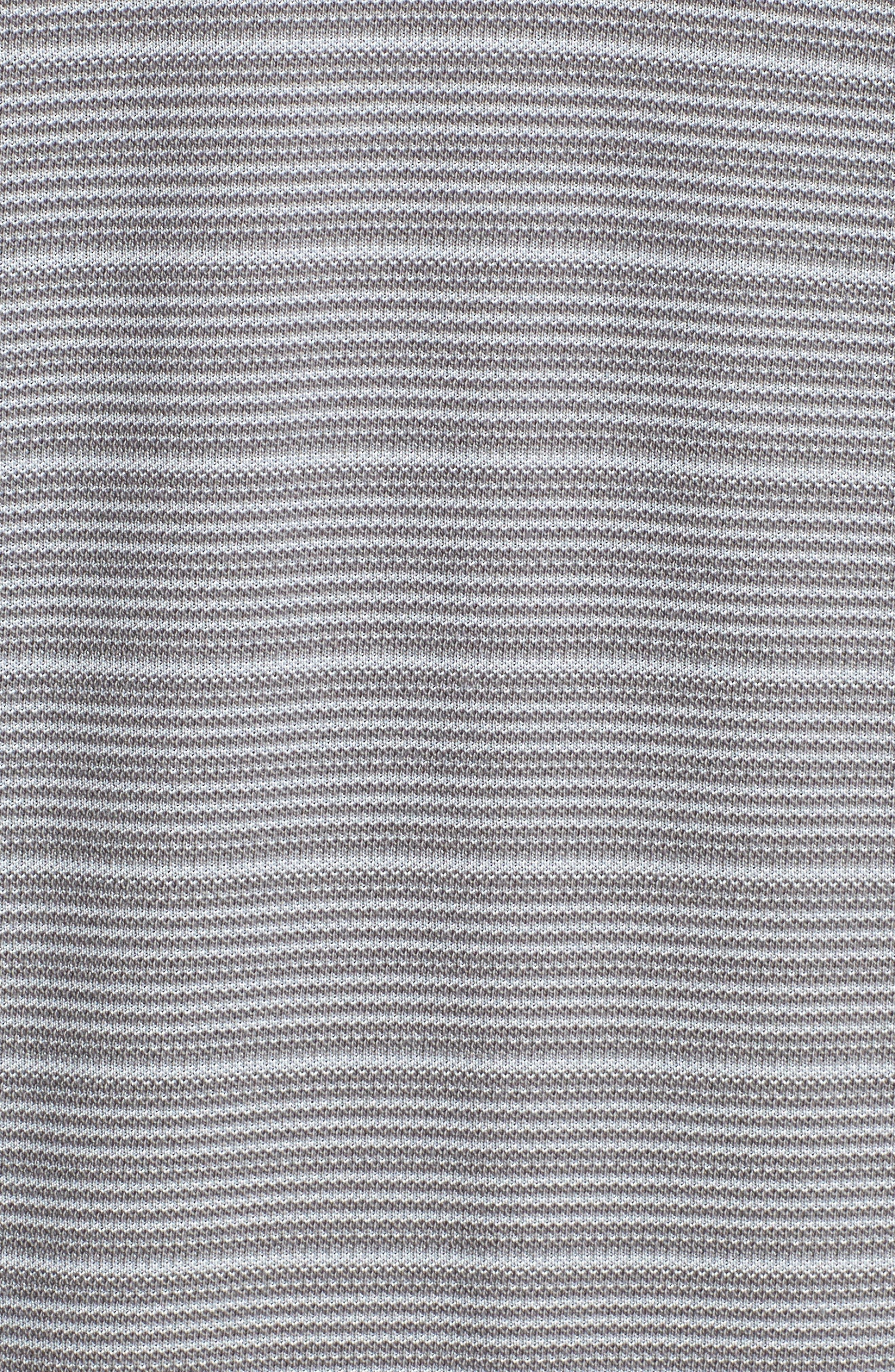 Santa Elana Stripe Polo,                             Alternate thumbnail 5, color,                             CARBON GREY