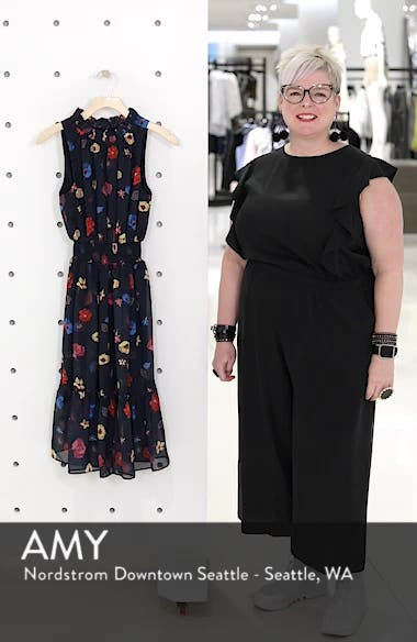 Floral Chiffon Fit & Flare Dress, sales video thumbnail