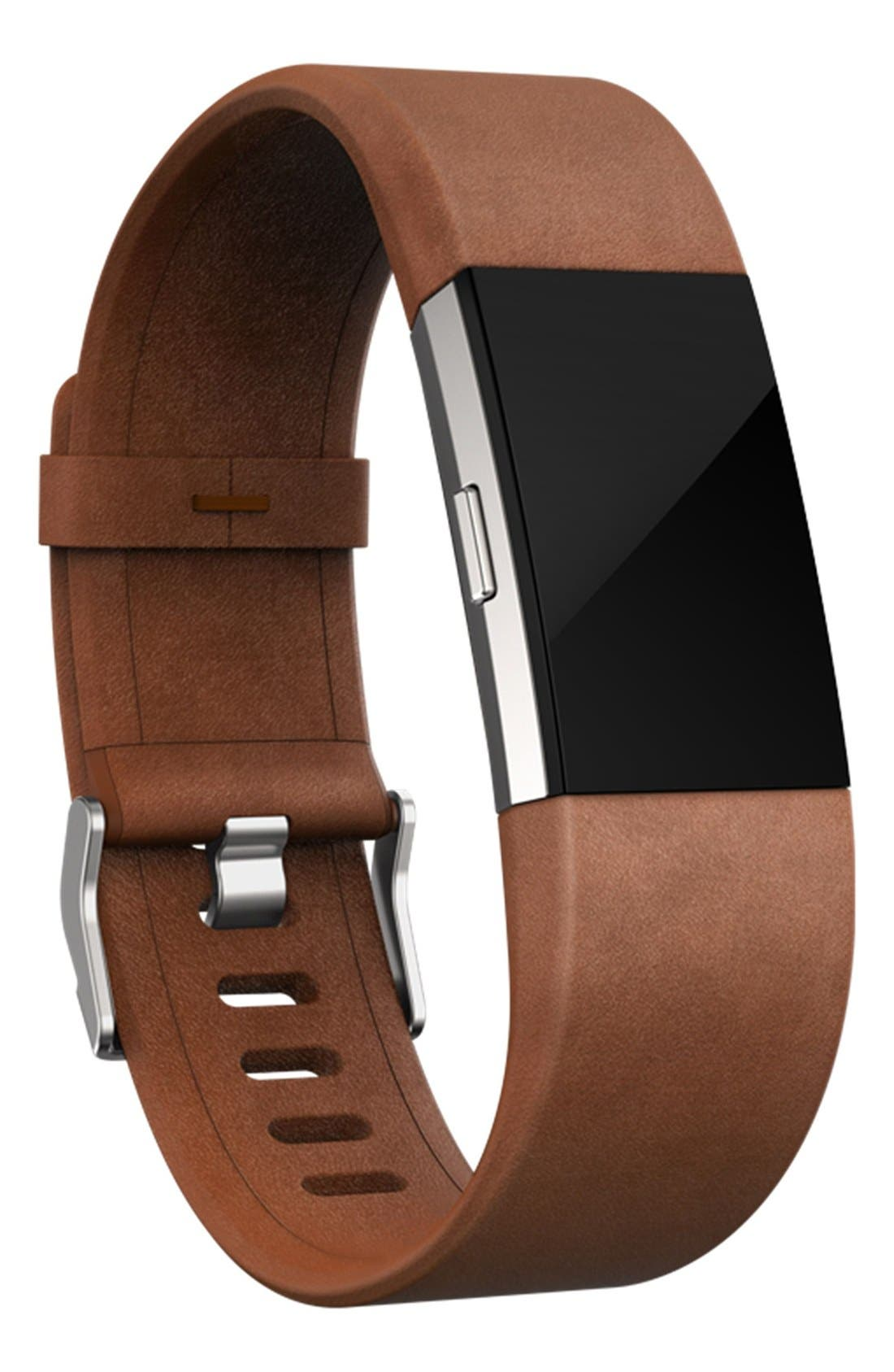 FITBIT,                             Charge 2 Leather Accessory Band,                             Alternate thumbnail 5, color,                             200