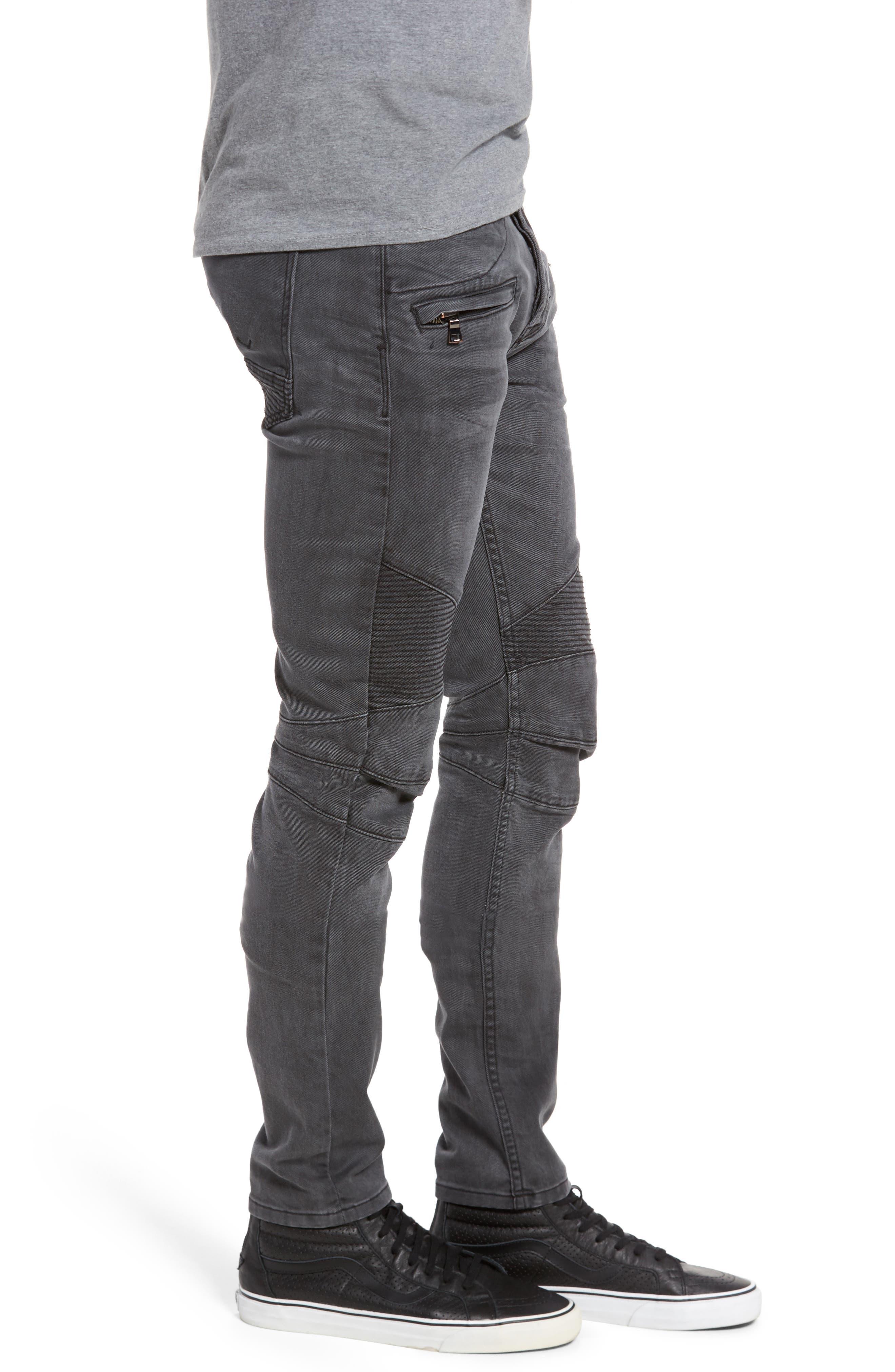Blinder Biker Moto Skinny Fit Jeans,                             Alternate thumbnail 3, color,                             MIXTAPE