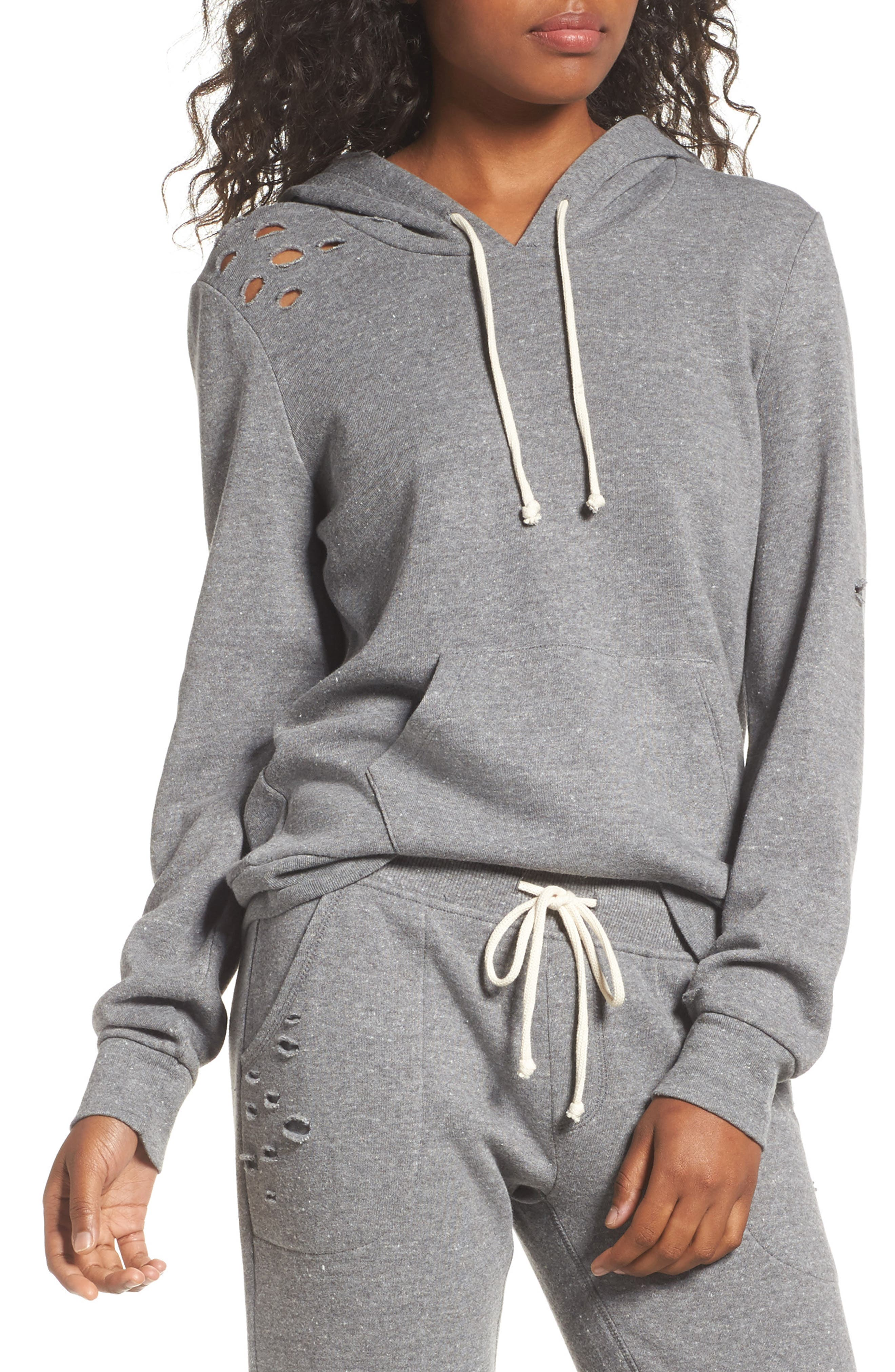 Athletics Distressed Hoodie,                             Main thumbnail 1, color,
