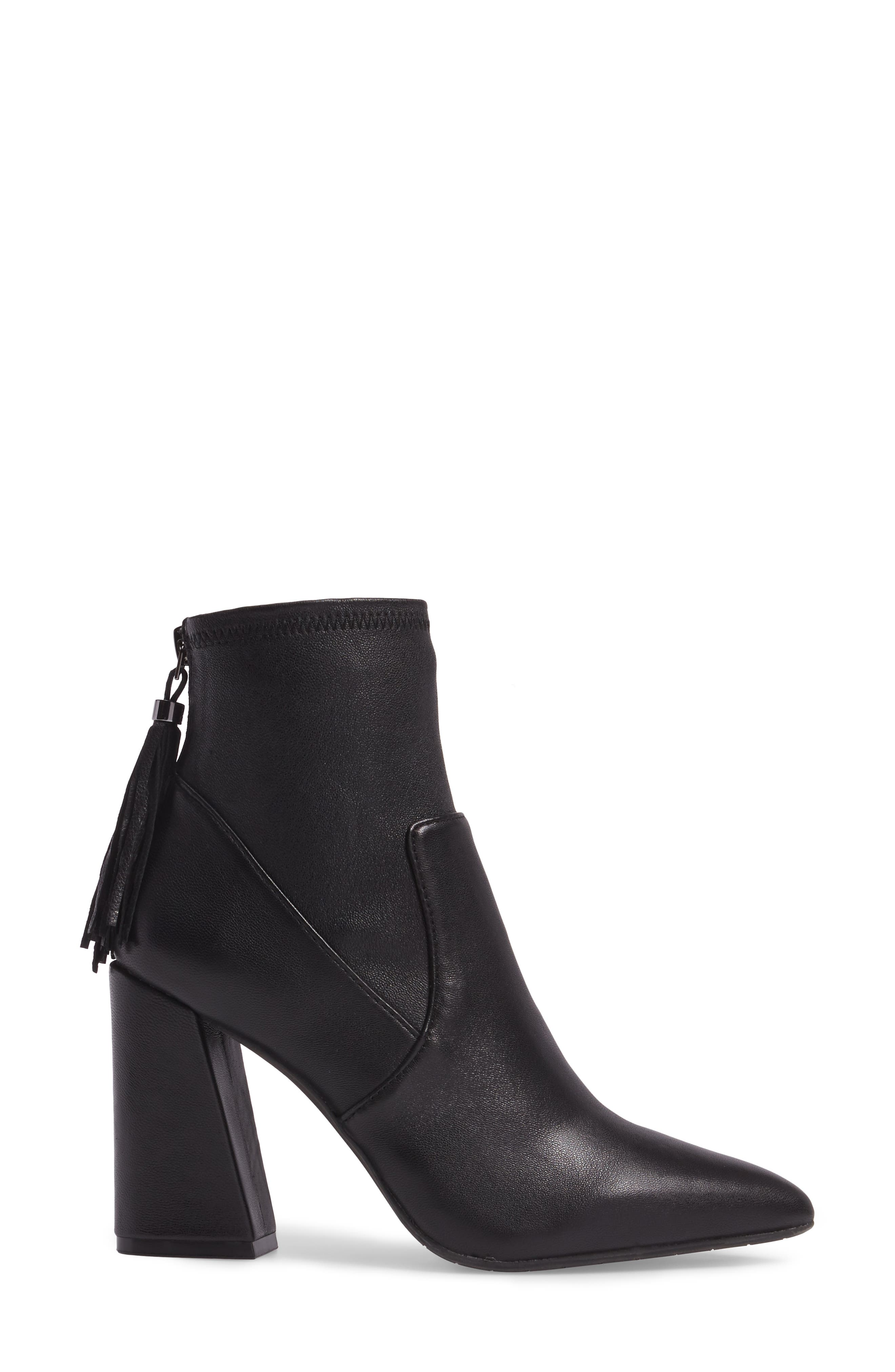 Gracelyn Pointy Toe Bootie,                             Alternate thumbnail 3, color,                             001