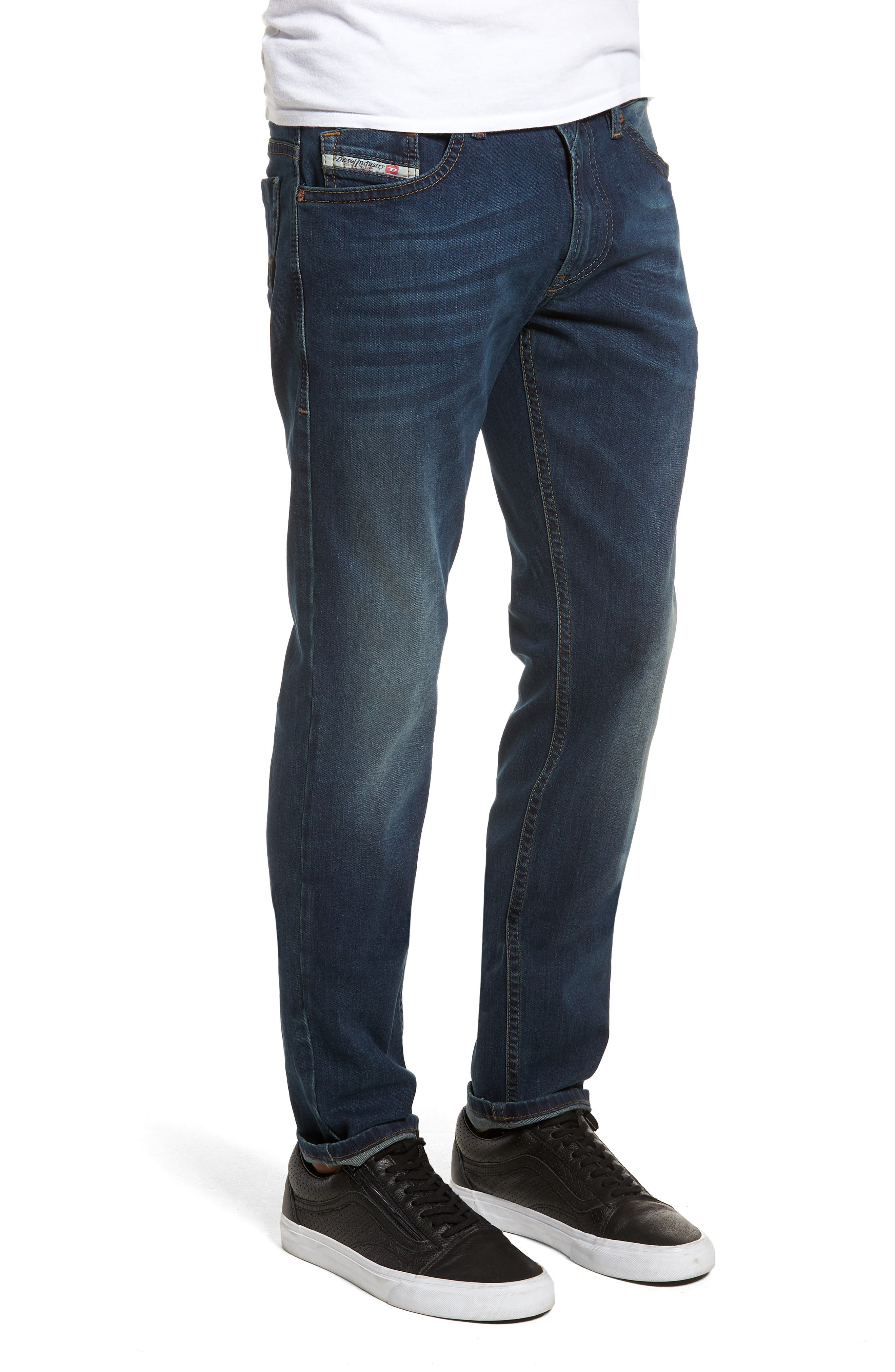 Thommer Skinny Fit Jeans,                             Alternate thumbnail 3, color,                             BLUE