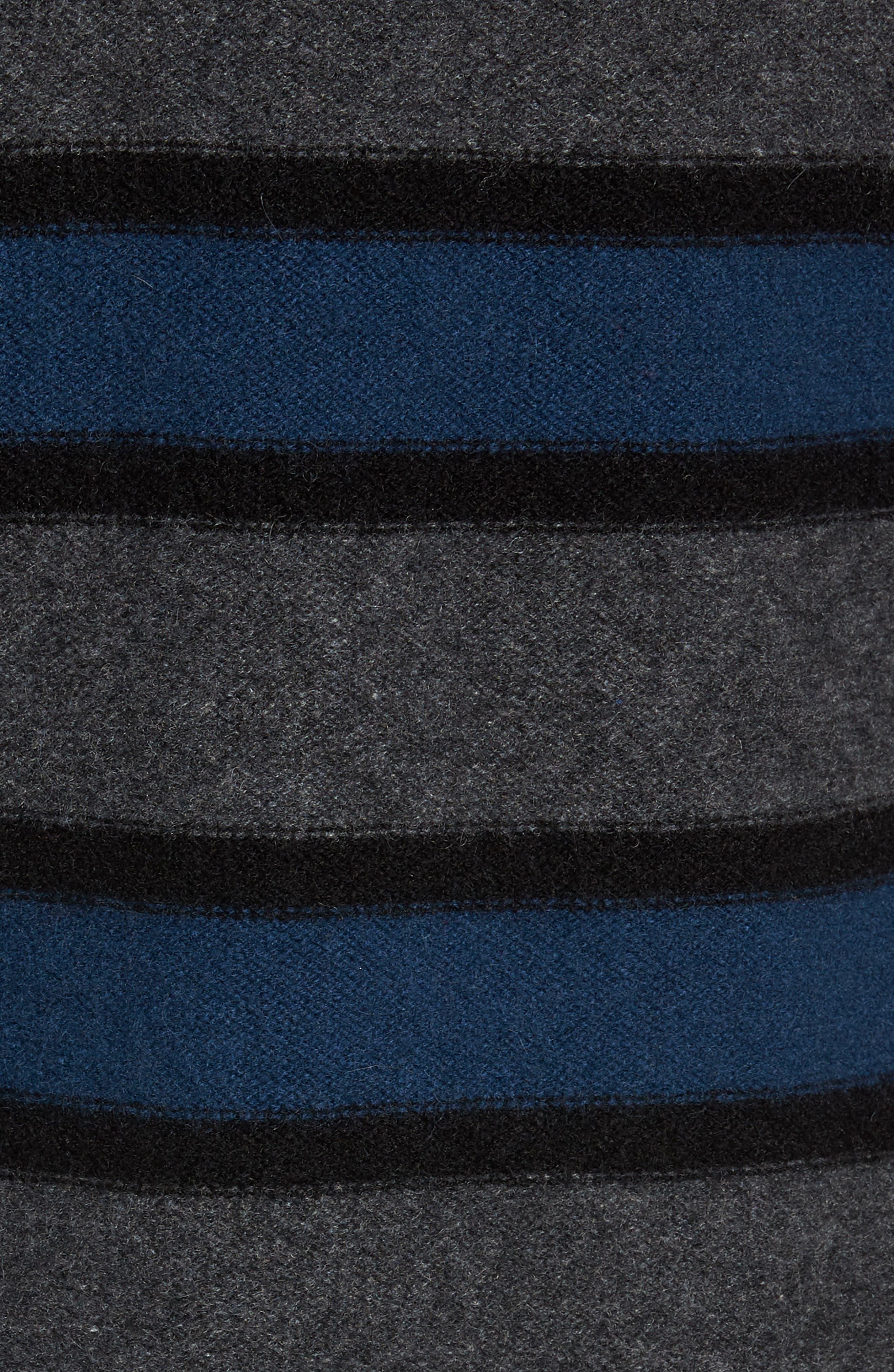 Regular Fit Stripe Cashmere Sweater,                             Alternate thumbnail 5, color,                             DARK HEATHER GREY/BLUE