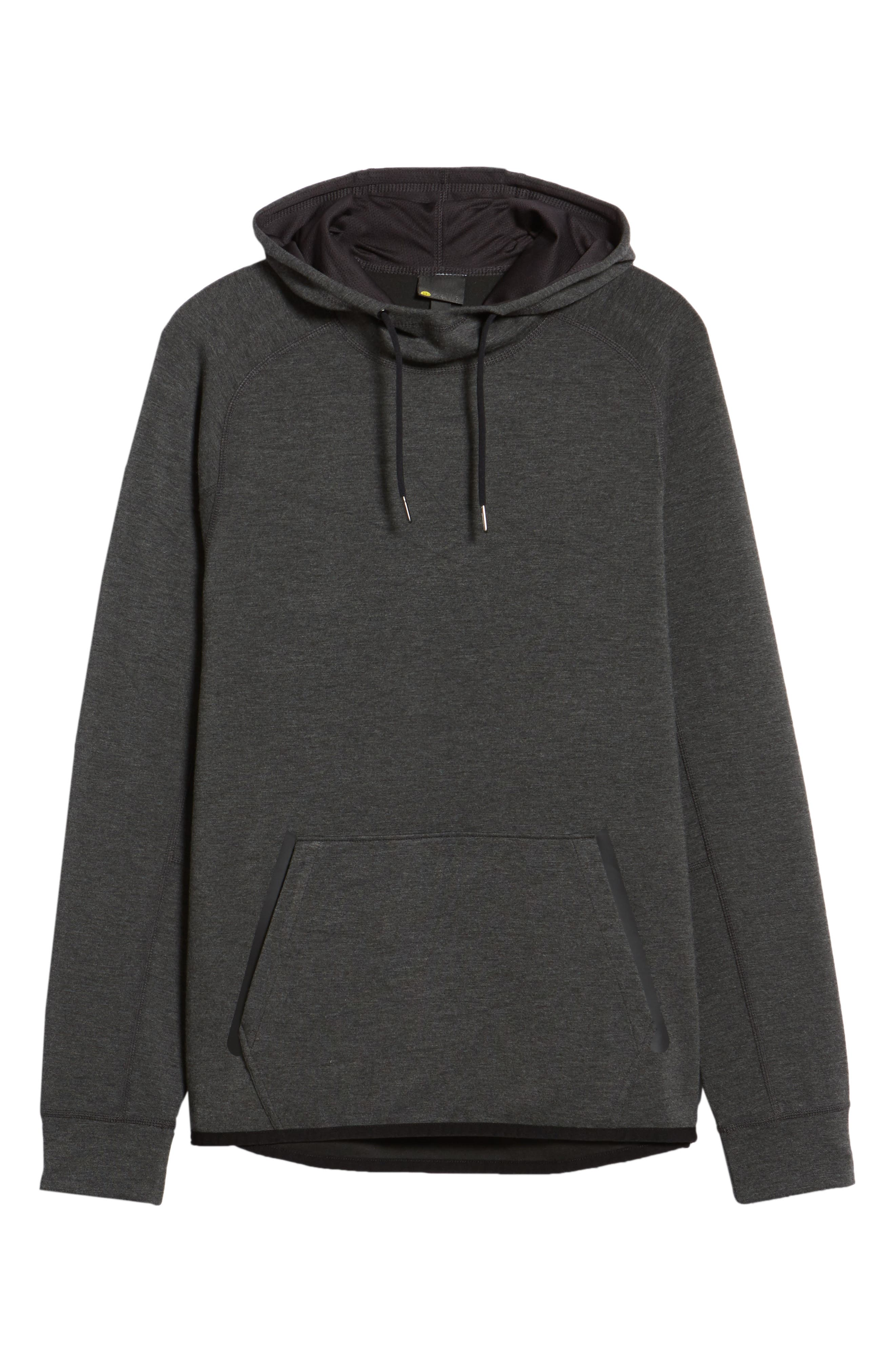 Active Pullover Hoodie,                             Alternate thumbnail 6, color,                             BLACK OXIDE HEATHER