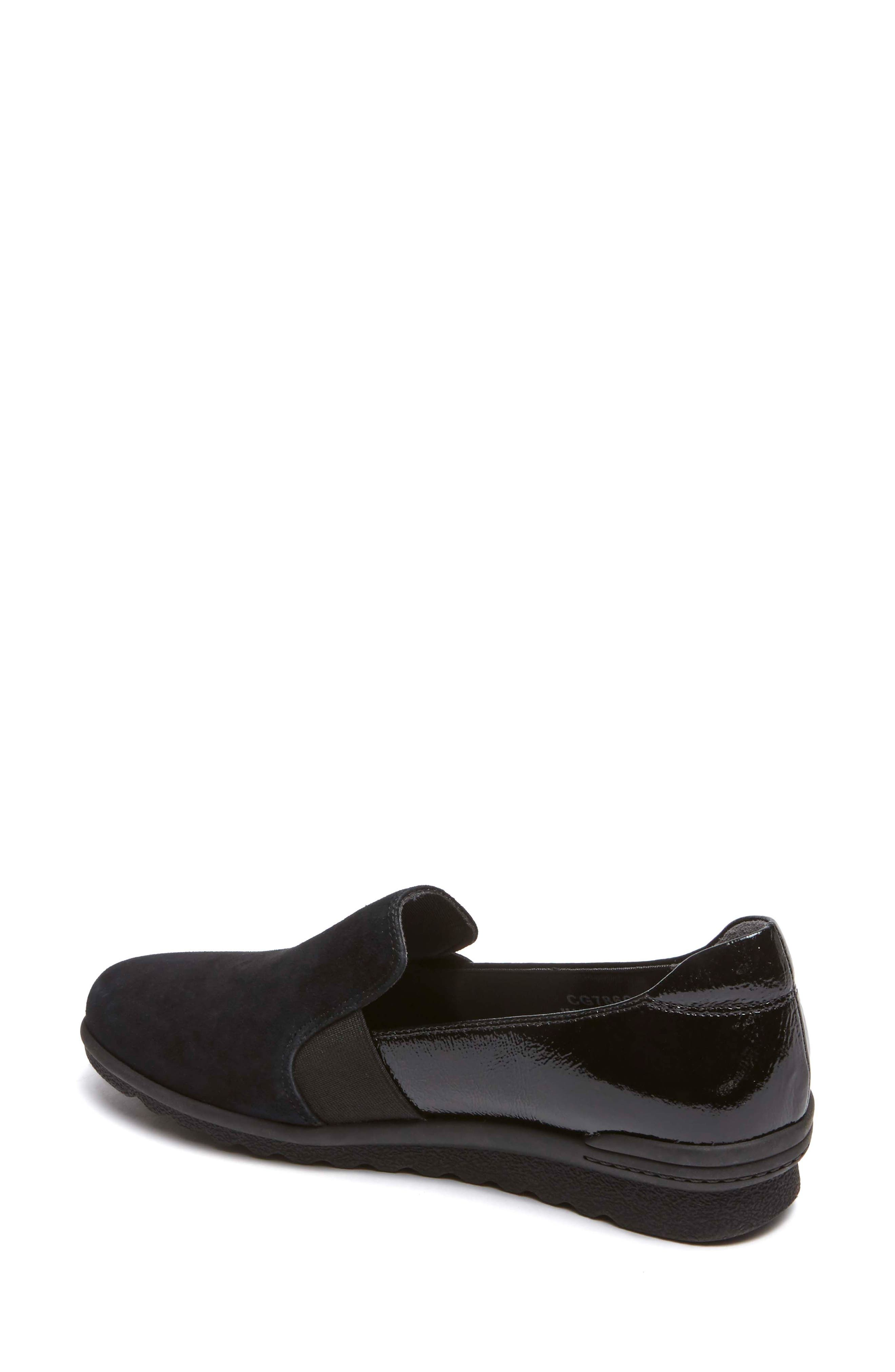 Chenole Loafer,                             Alternate thumbnail 2, color,                             BLACK SUEDE