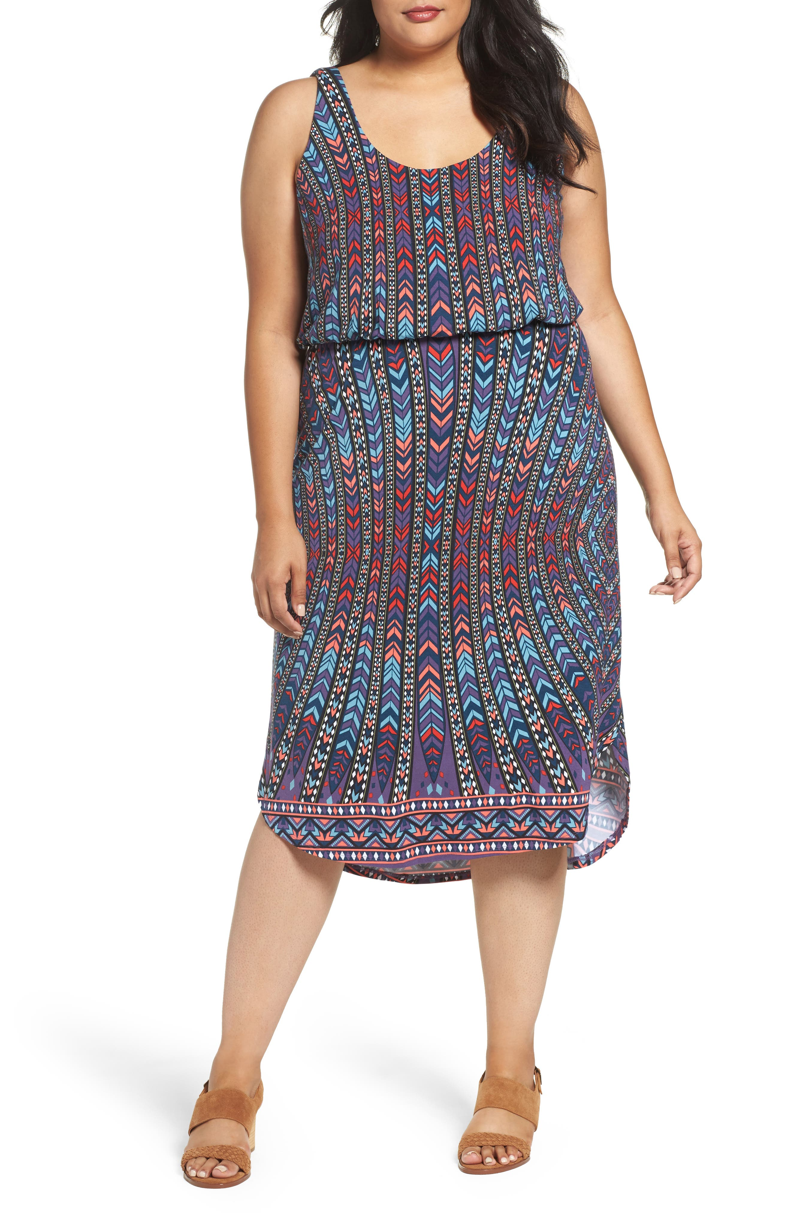 Soraya Print Jersey Midi Dress,                         Main,                         color, 400