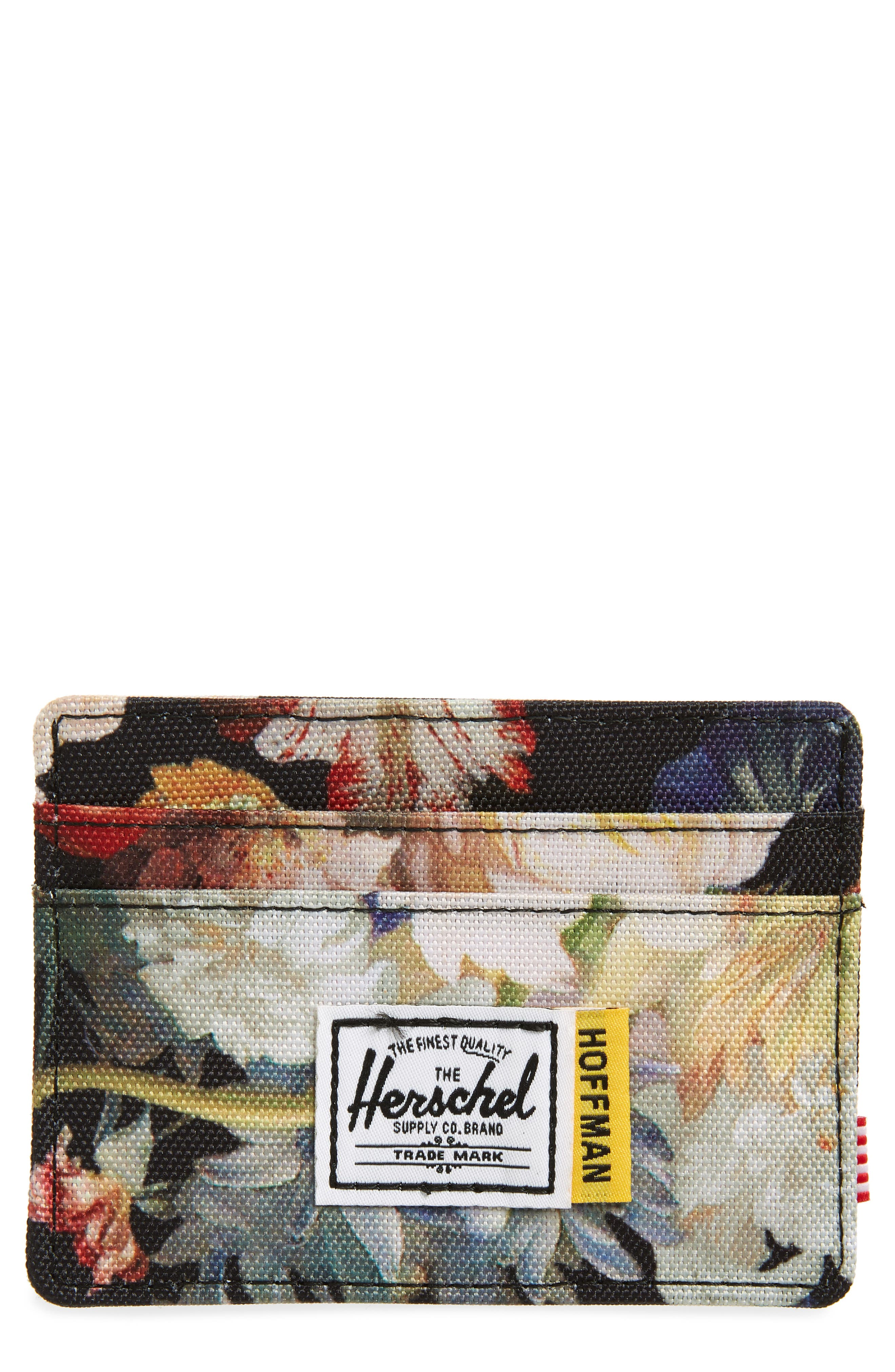 Hoffman Charlie Card Case,                             Main thumbnail 1, color,                             FALL FLORAL