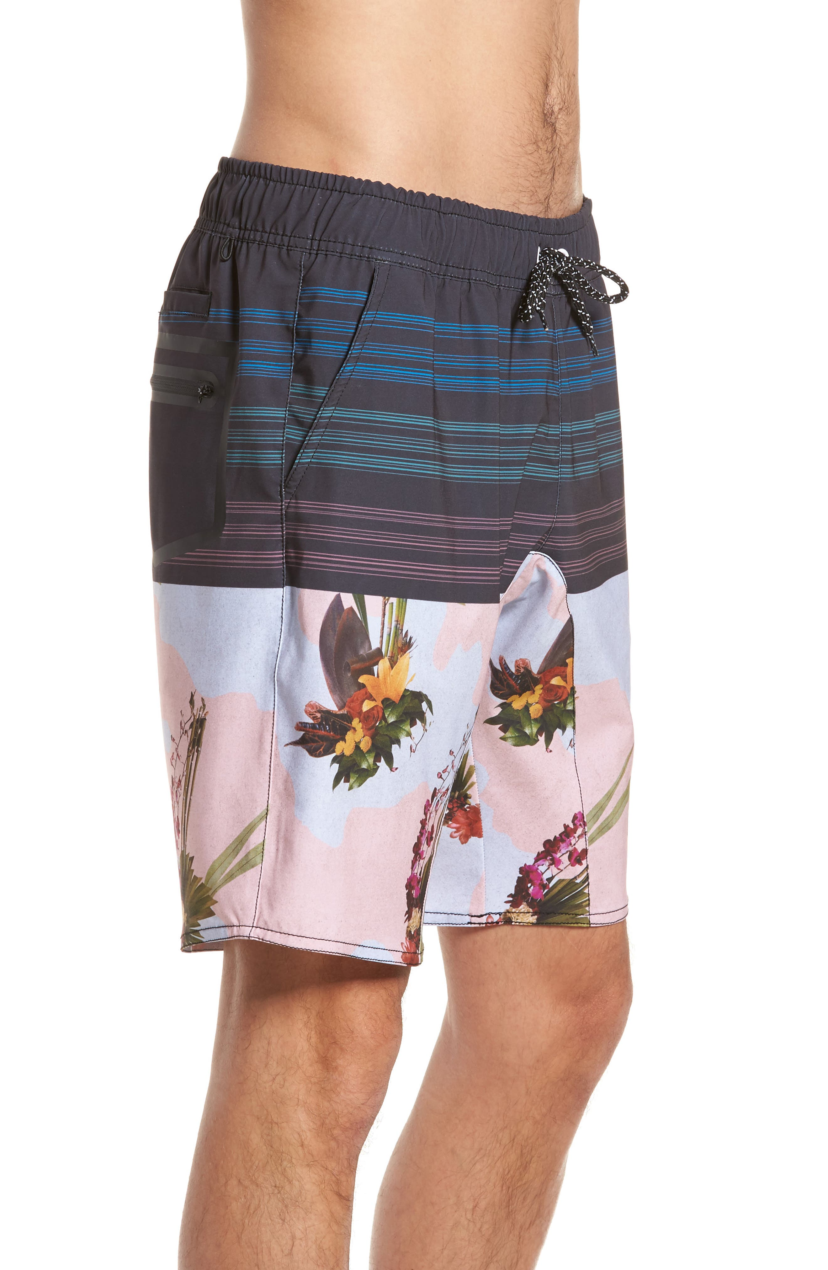 Oasis Swim Shorts,                             Alternate thumbnail 3, color,                             001