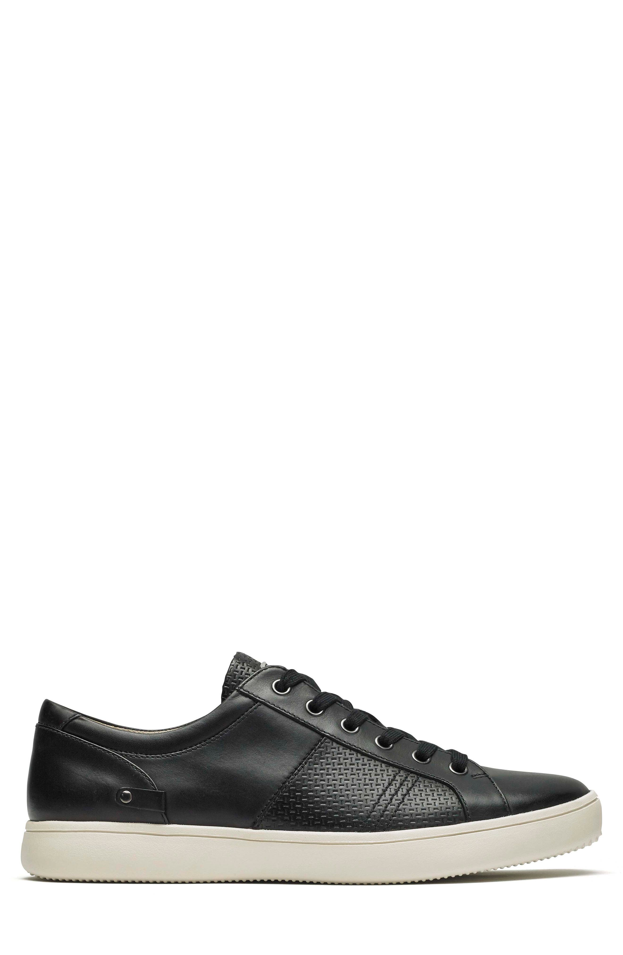 City Lites Collection Lace-Up Sneaker,                             Alternate thumbnail 3, color,                             001