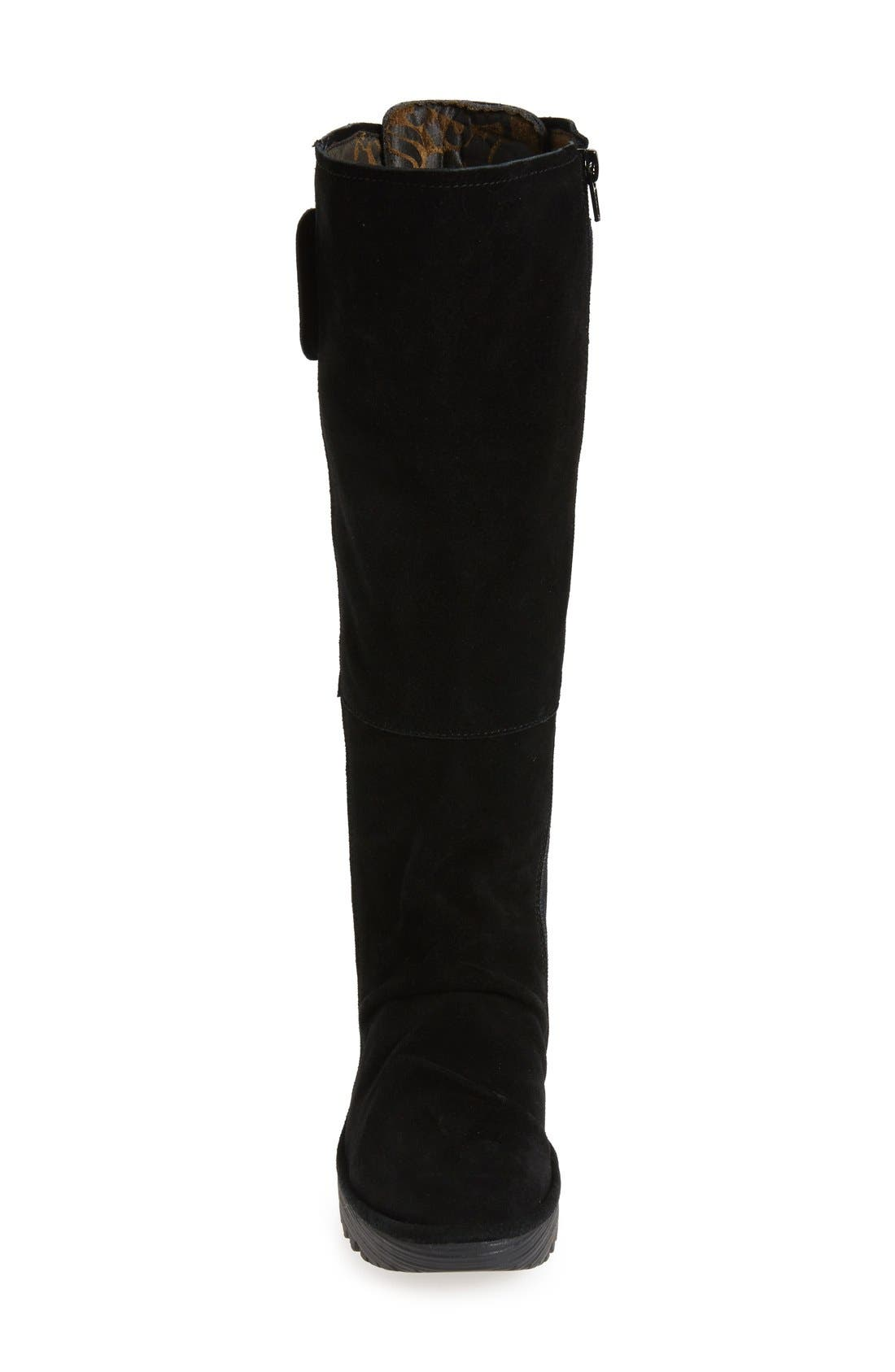 'Yulo' Knee High Wedge Platform Boot,                             Alternate thumbnail 3, color,                             003