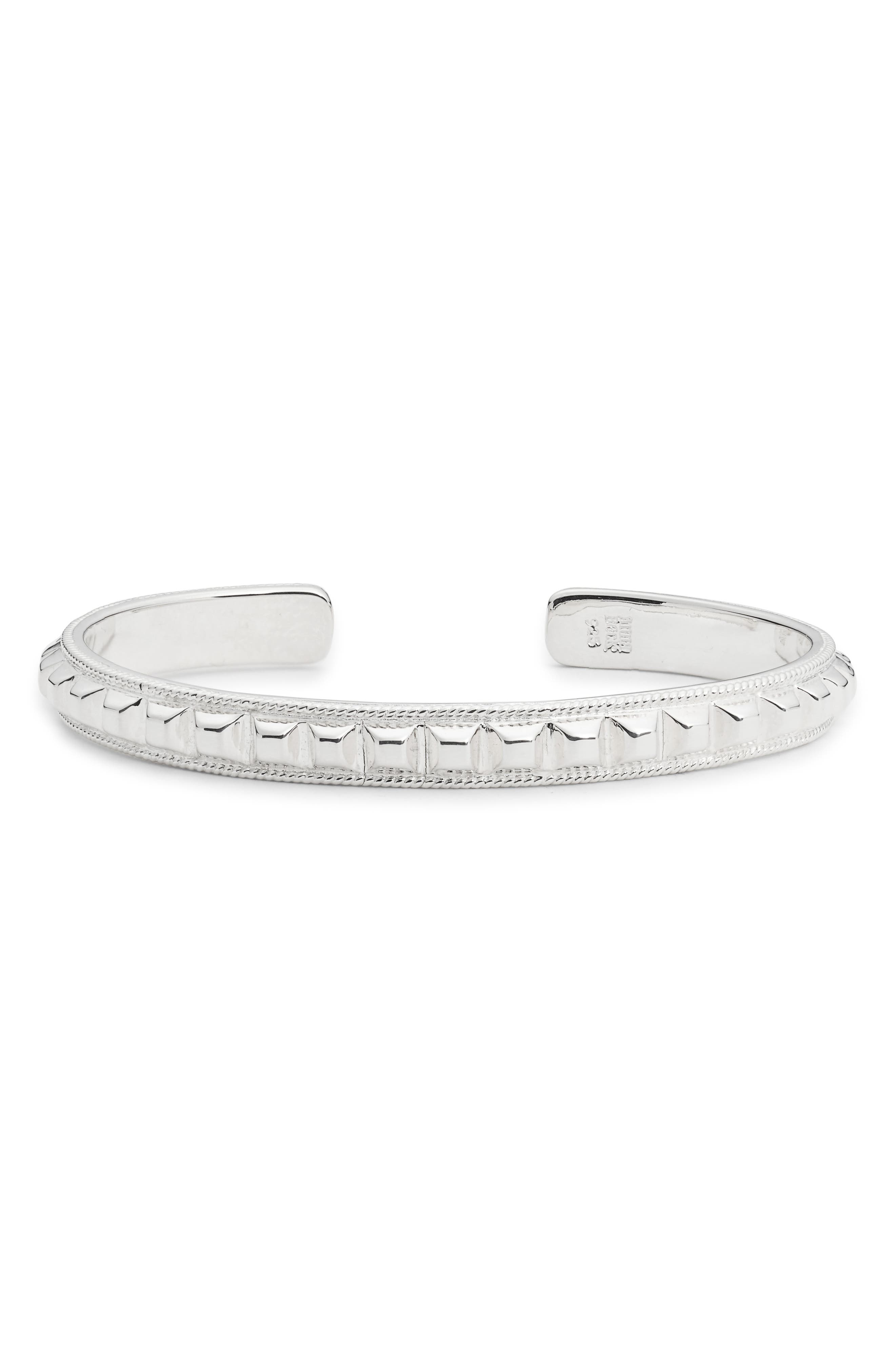 ANNA BECK Studded Skinny Cuff in Silver