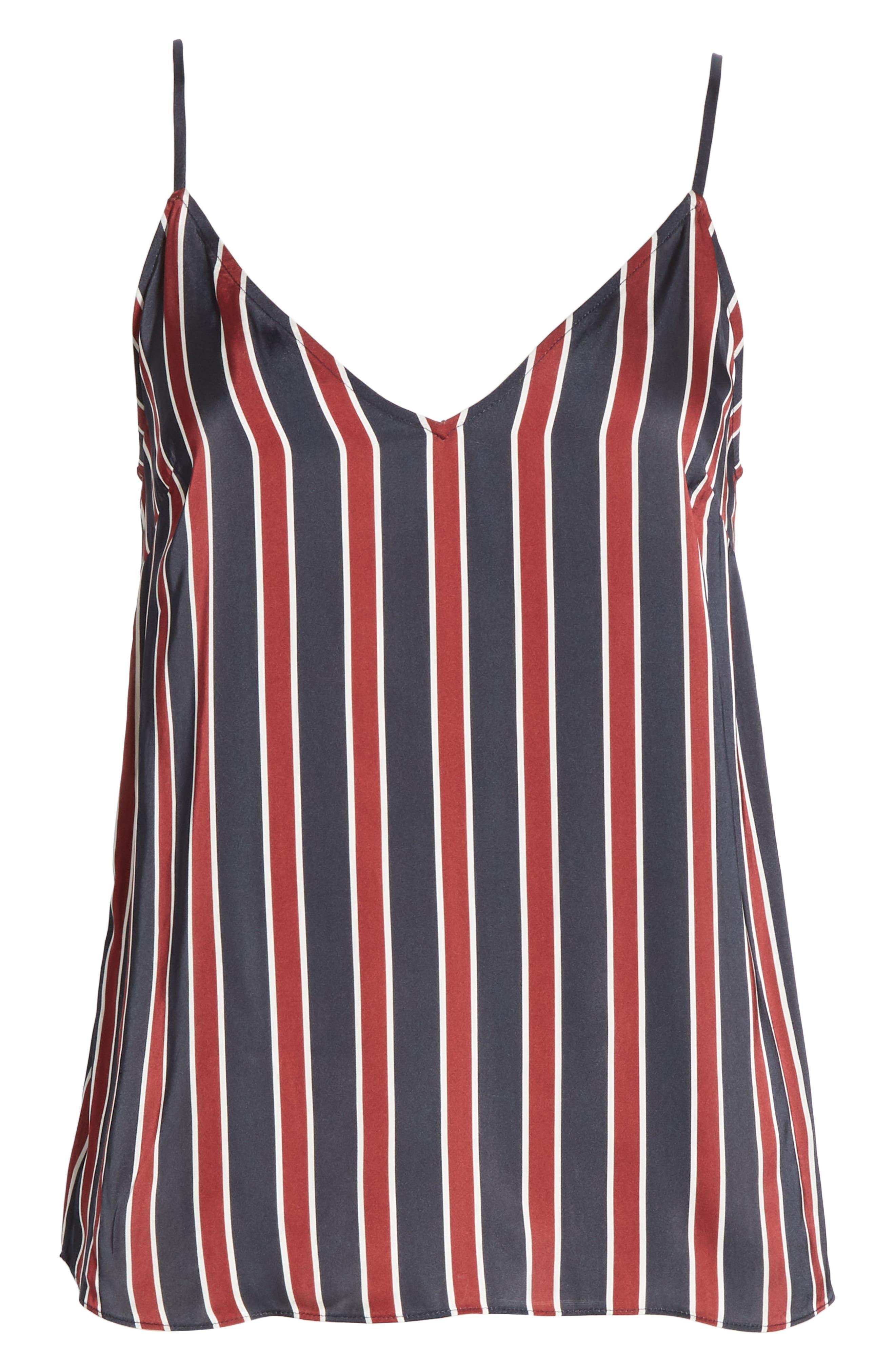 Stripe Camisole,                             Alternate thumbnail 6, color,                             NAVY MULTI