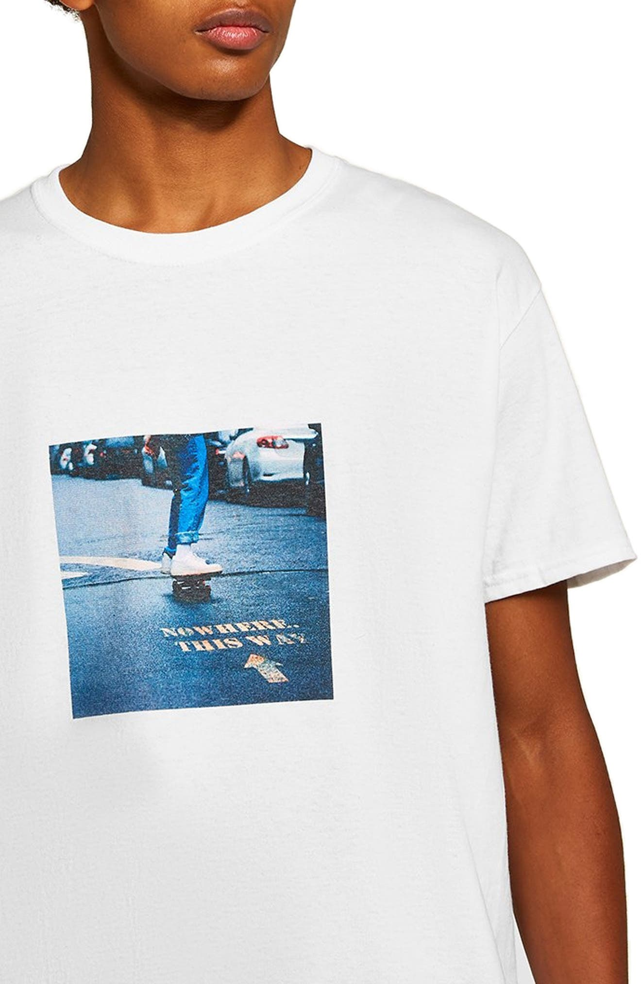 Skater Classic T-Shirt,                             Alternate thumbnail 3, color,                             WHITE MULTI