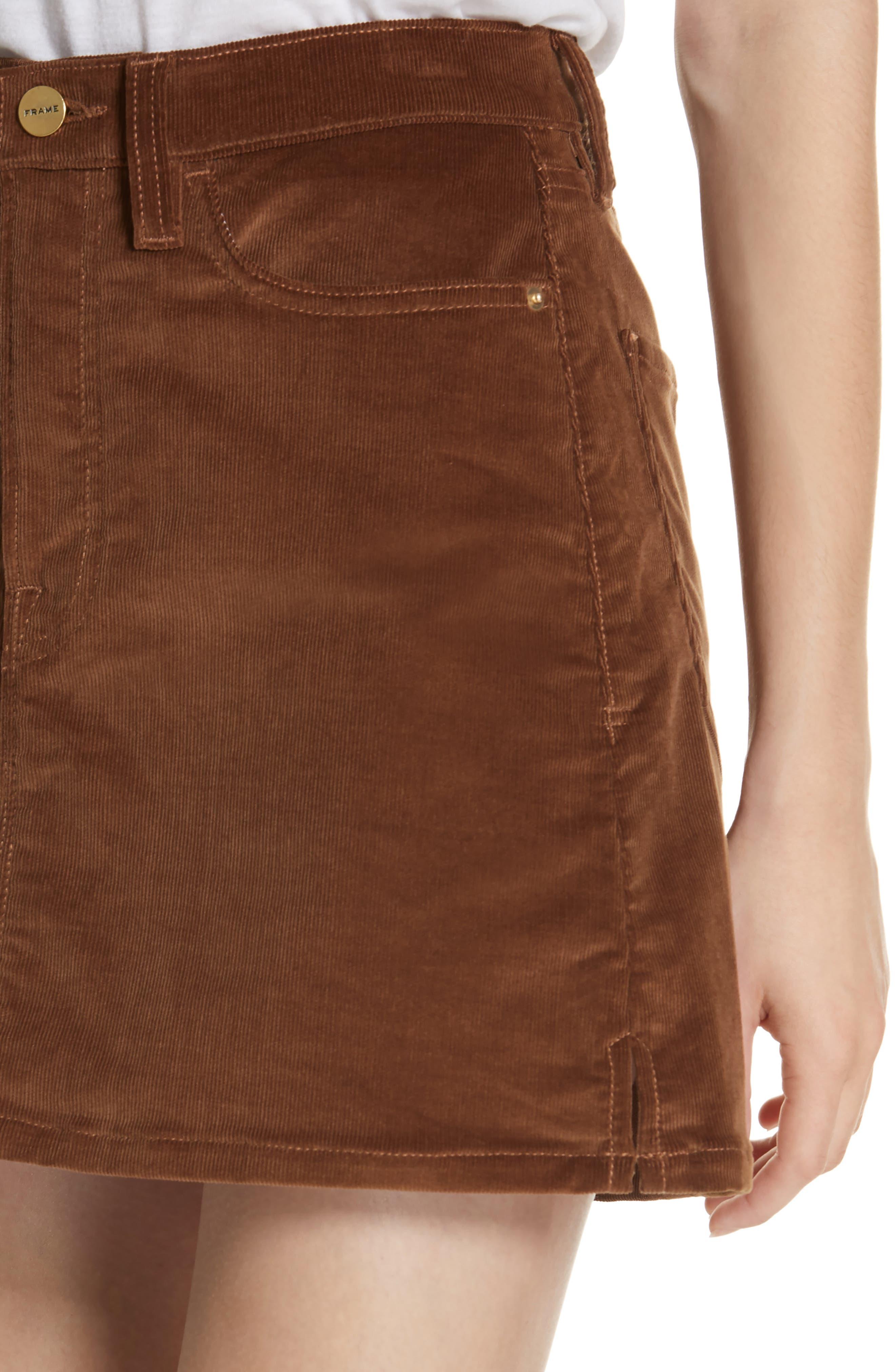 Le Mini Corduroy Skirt,                             Alternate thumbnail 4, color,                             253