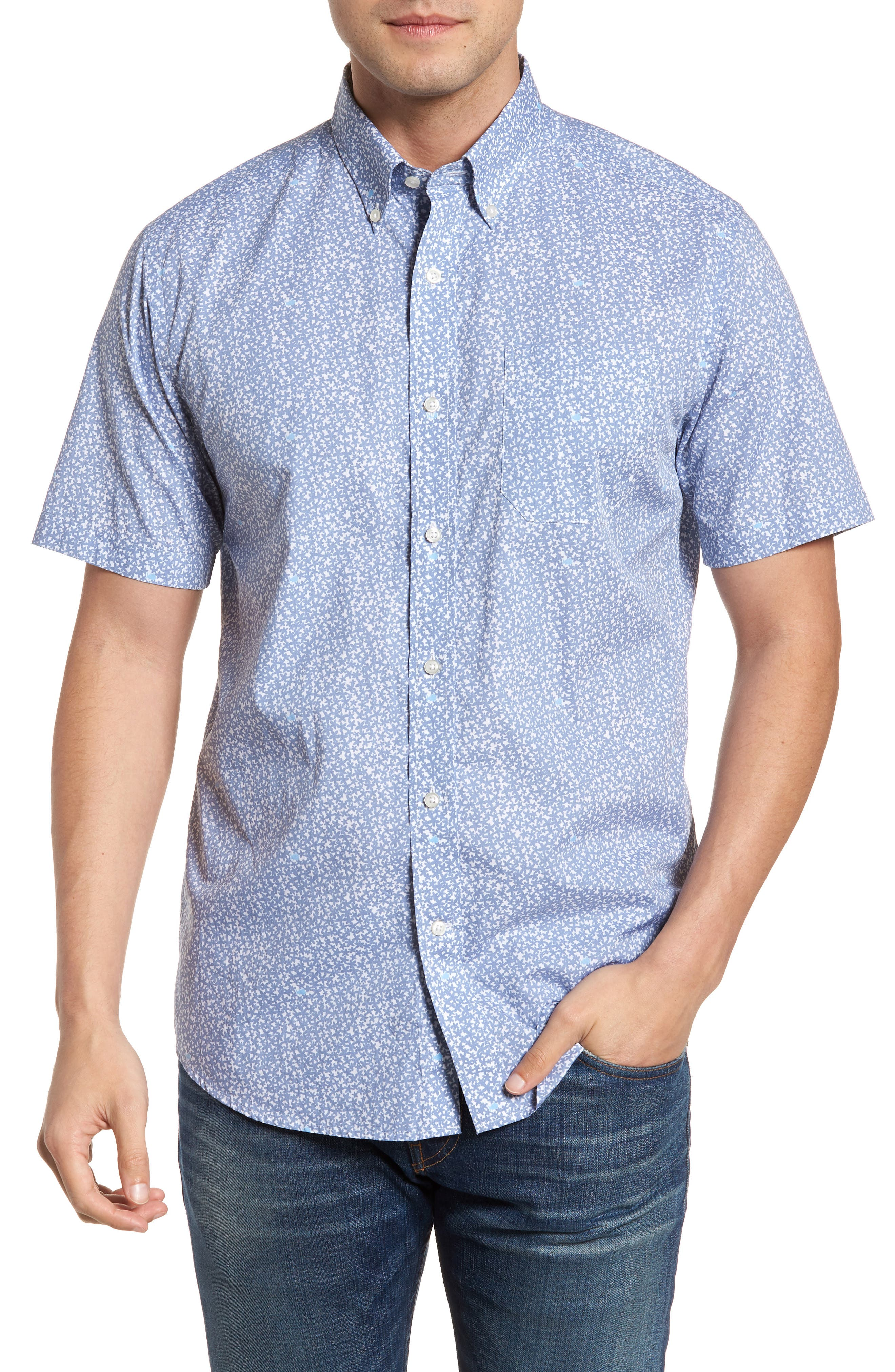 Dover Beach Regular Fit Print Sport Shirt,                         Main,                         color, 020