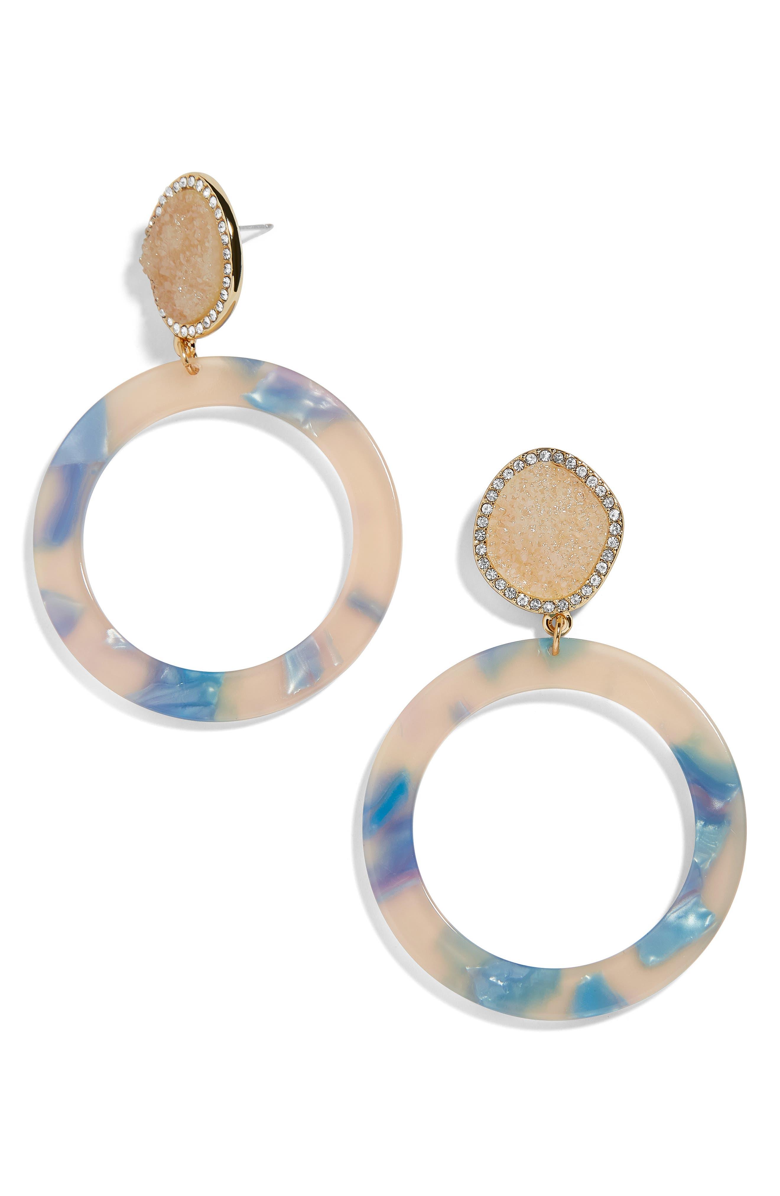 Devinne Hoop Earrings,                             Main thumbnail 1, color,                             CREAM