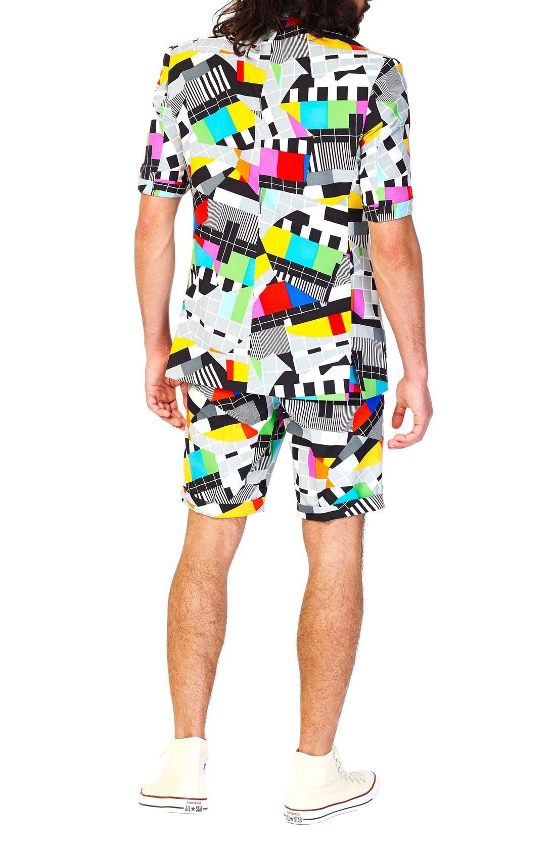 'Testival - Summer' Trim Fit Two-Piece Short Suit with Tie,                             Alternate thumbnail 2, color,                             020