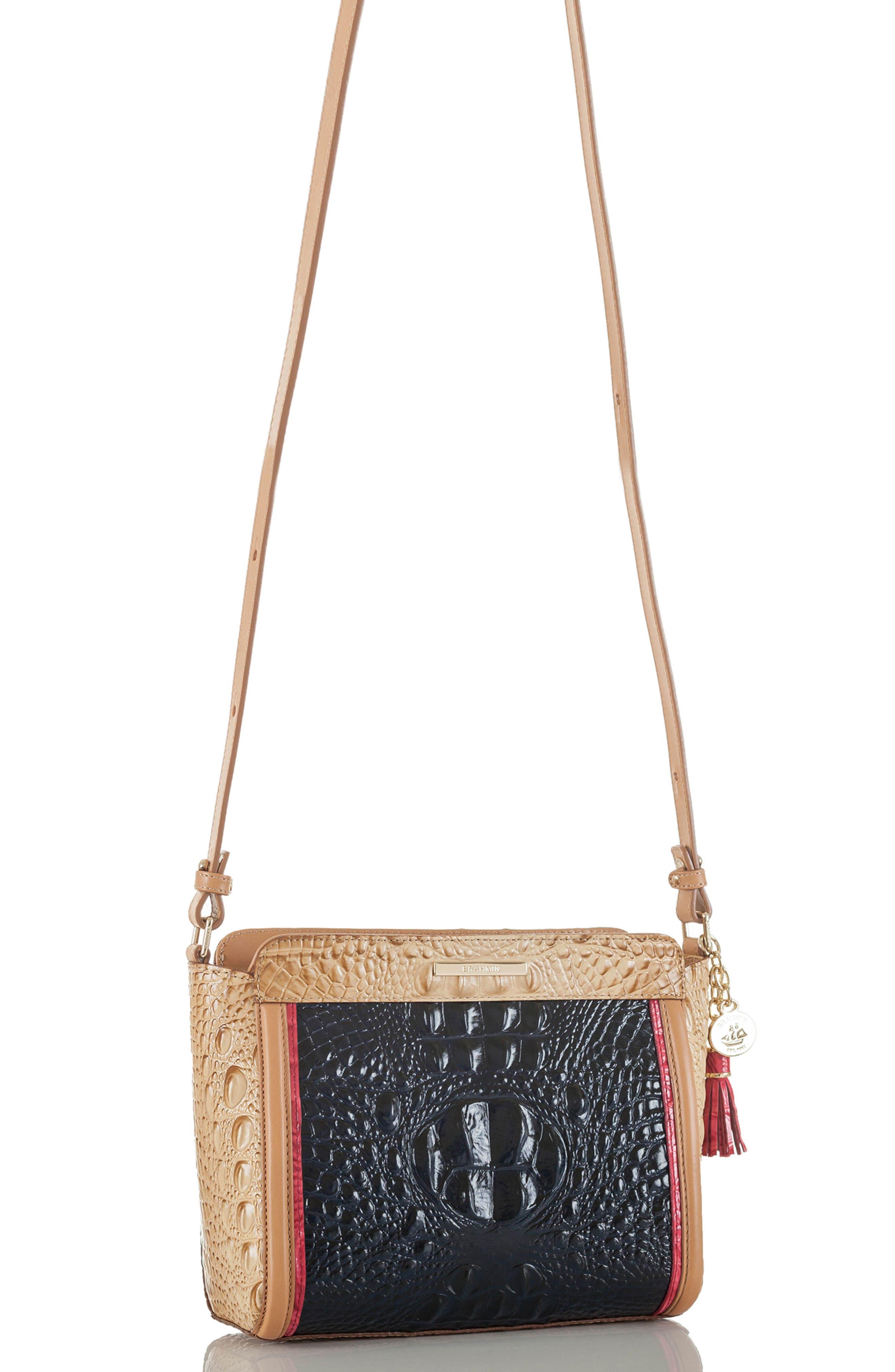 Carrie Leather Crossbody Bag,                             Alternate thumbnail 4, color,                             400