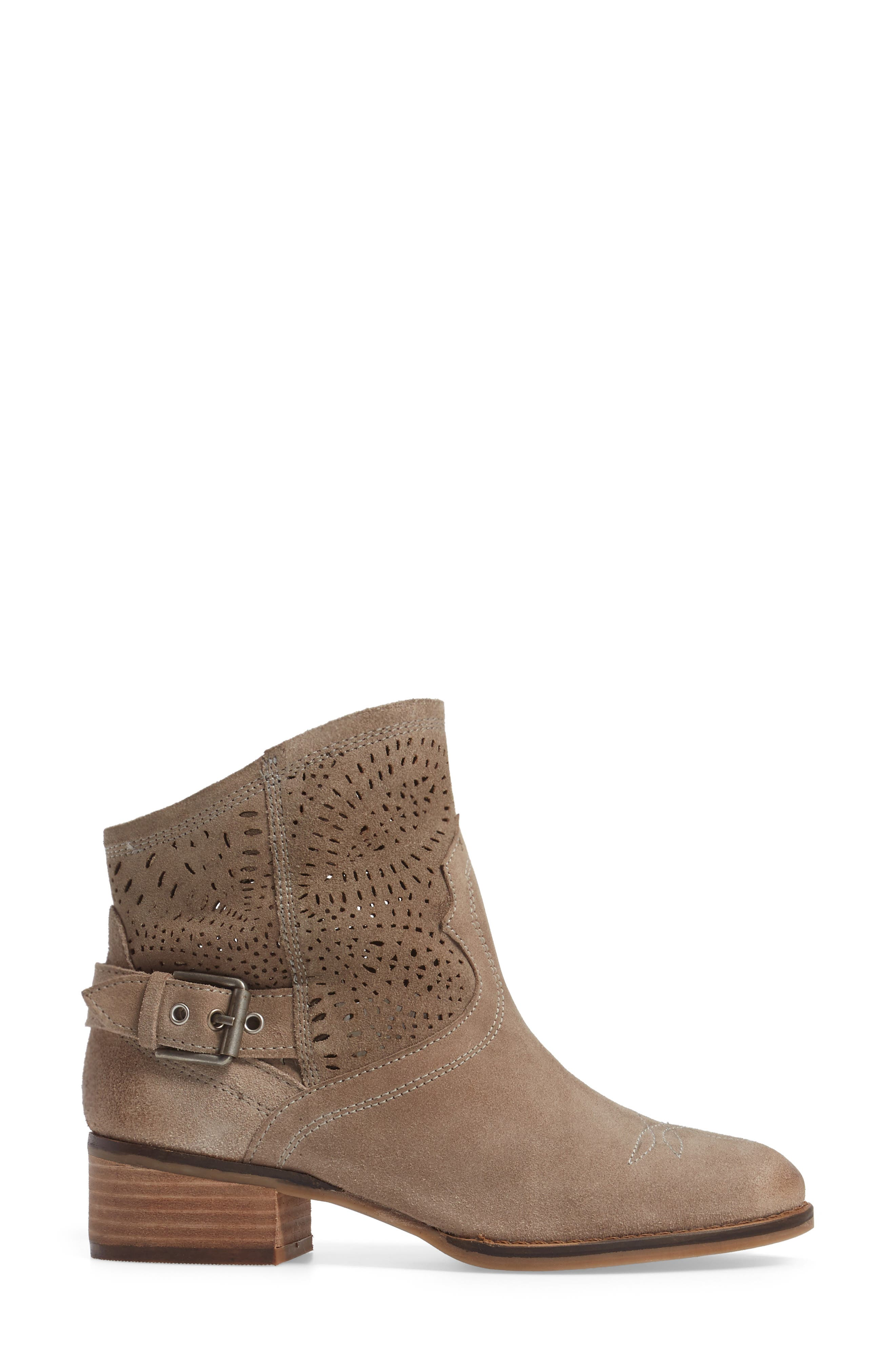 Zoey Perforated Bootie,                             Alternate thumbnail 11, color,