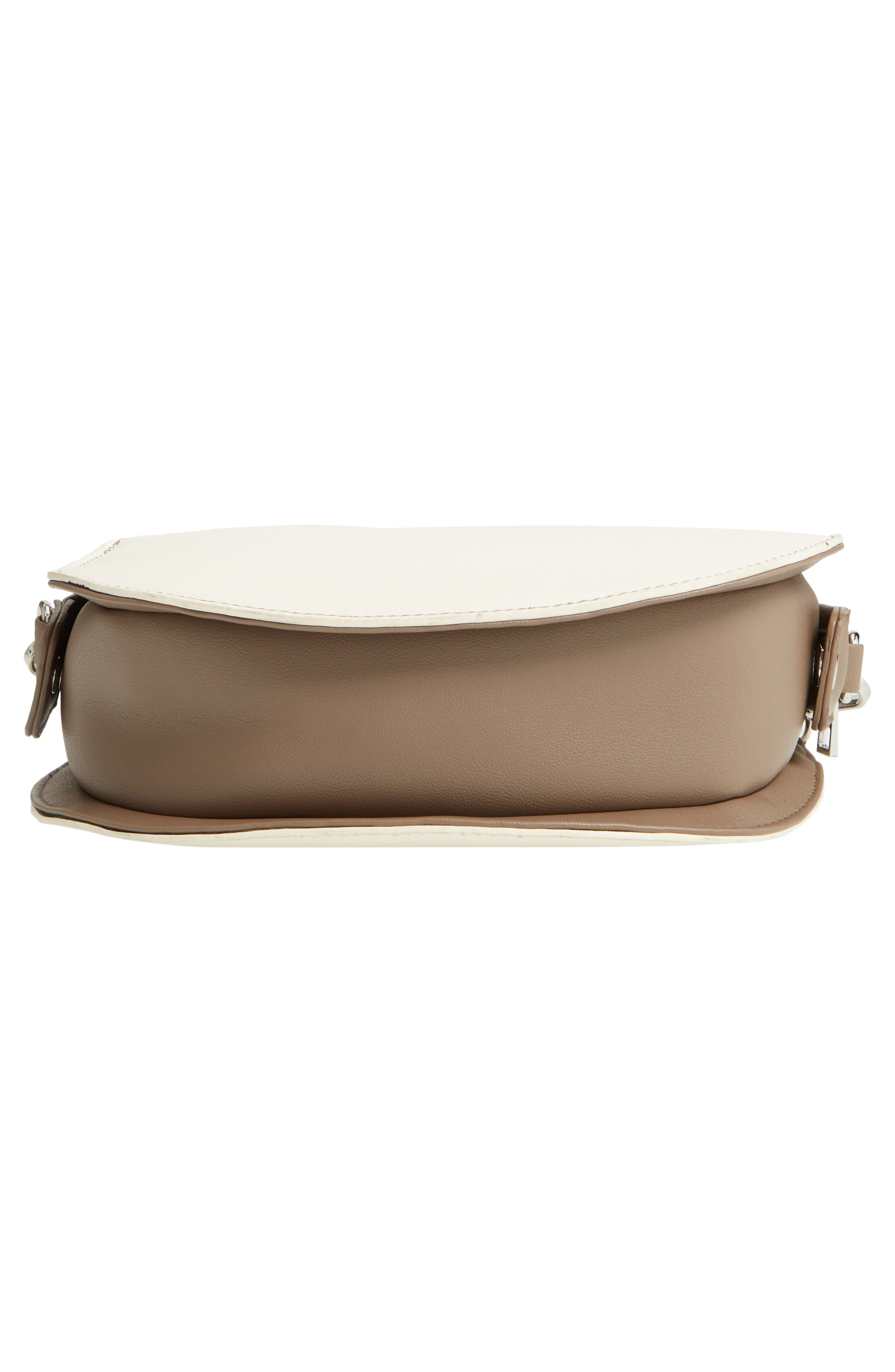 Two-Tone Faux Leather Oval Crossbody Bag,                             Alternate thumbnail 6, color,                             250