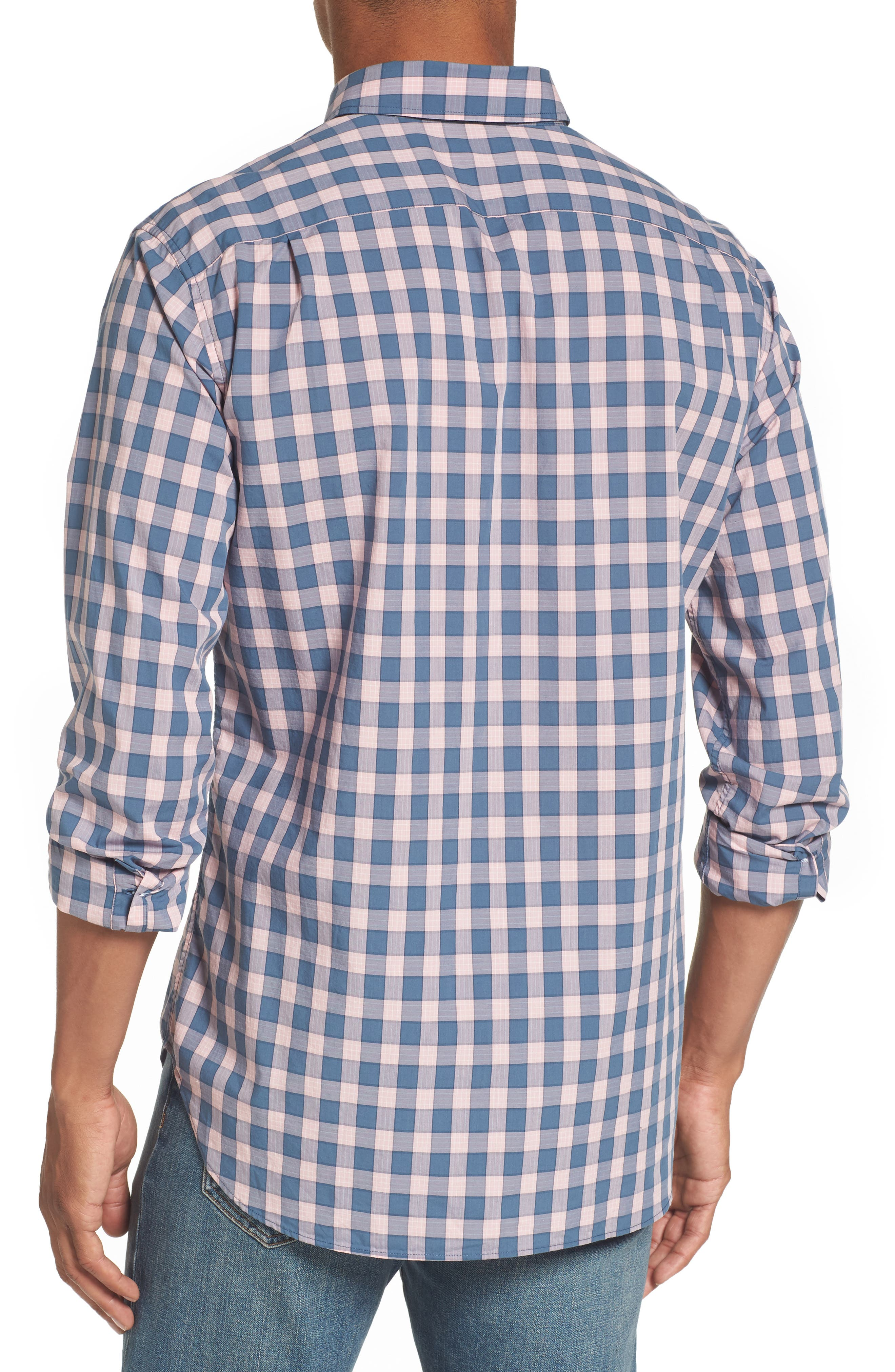 Summerweight Slim Fit Check Sport Shirt,                             Alternate thumbnail 2, color,                             650