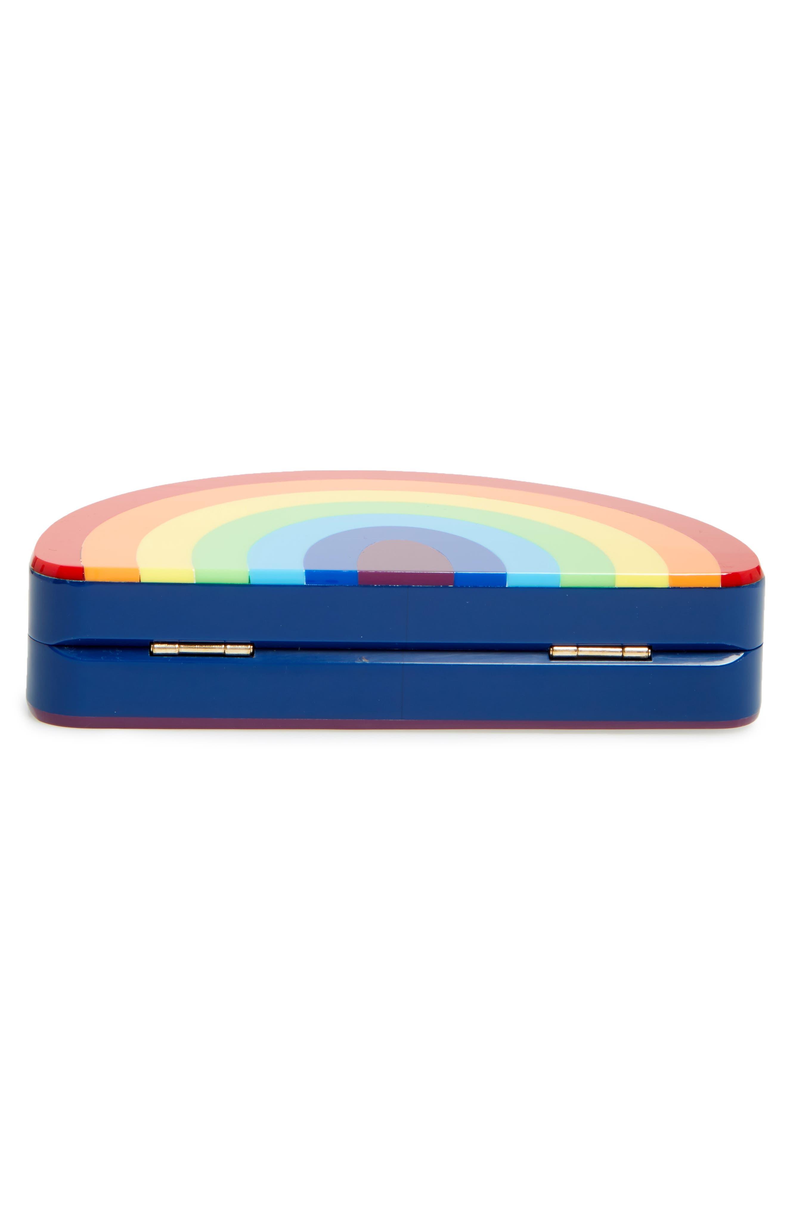 Rainbow Half Moon Clutch,                             Alternate thumbnail 6, color,                             600