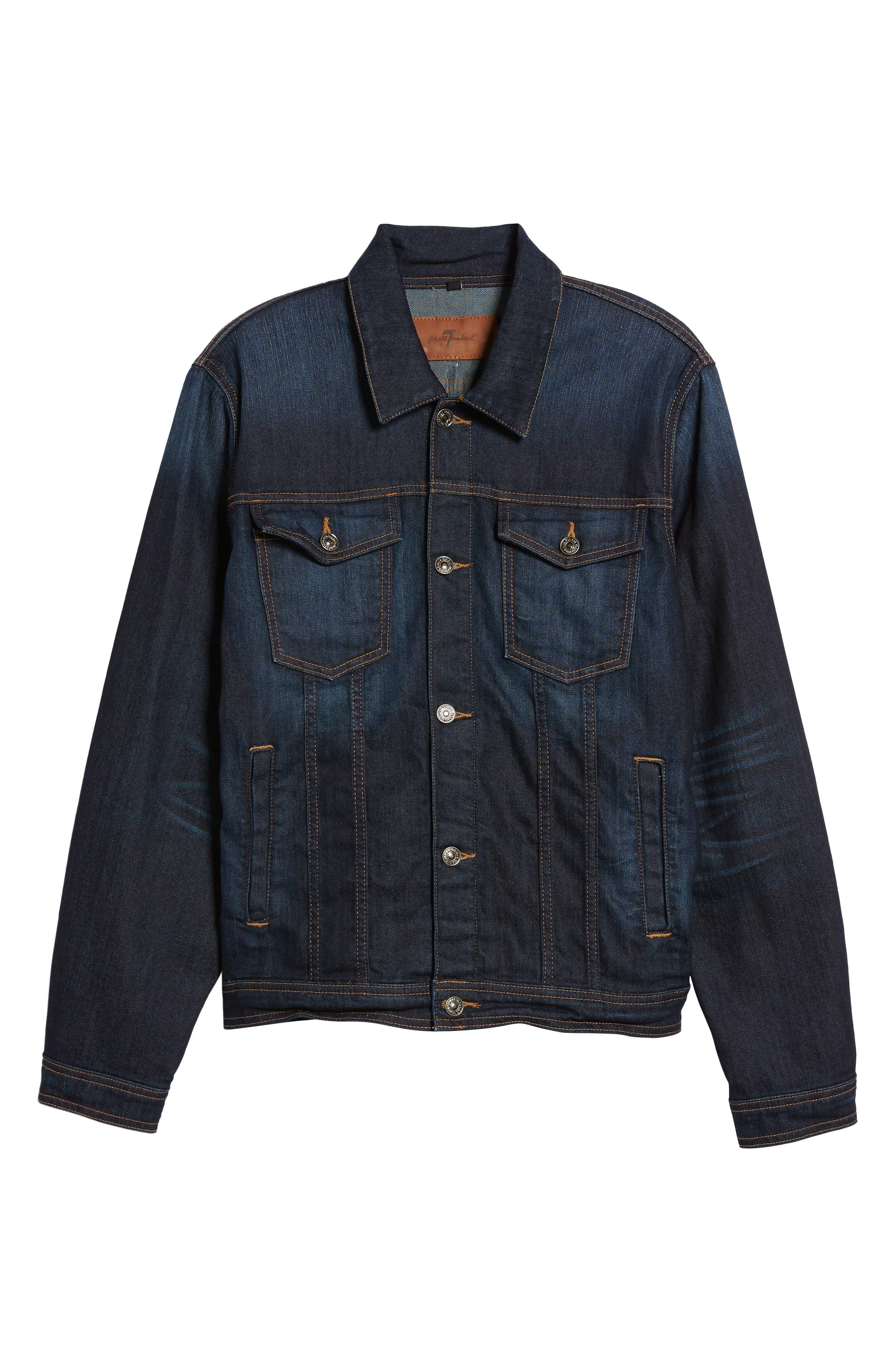 Denim Jacket,                             Alternate thumbnail 5, color,                             400