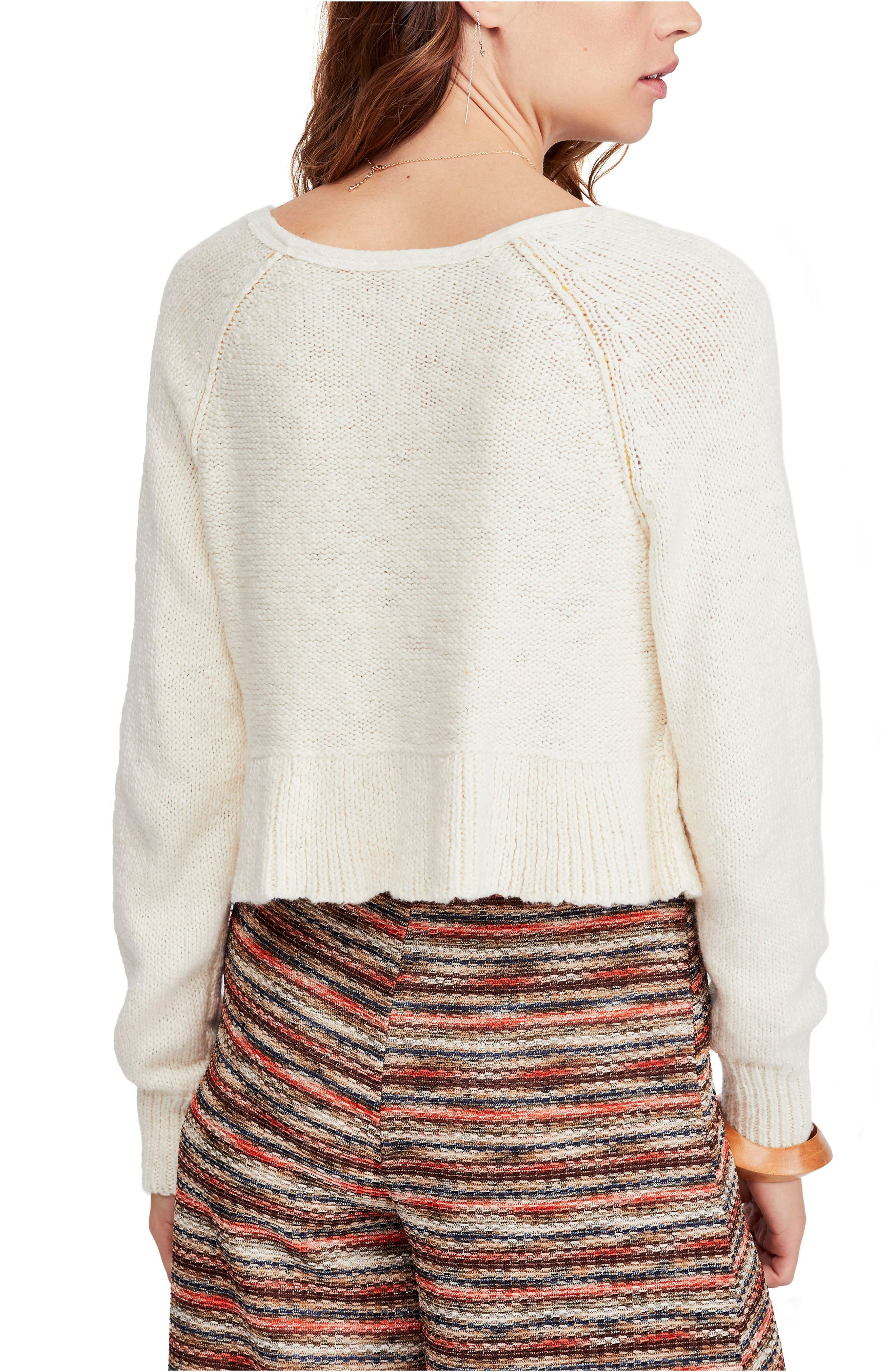 Sweetheart Sweater,                             Alternate thumbnail 2, color,                             IVORY