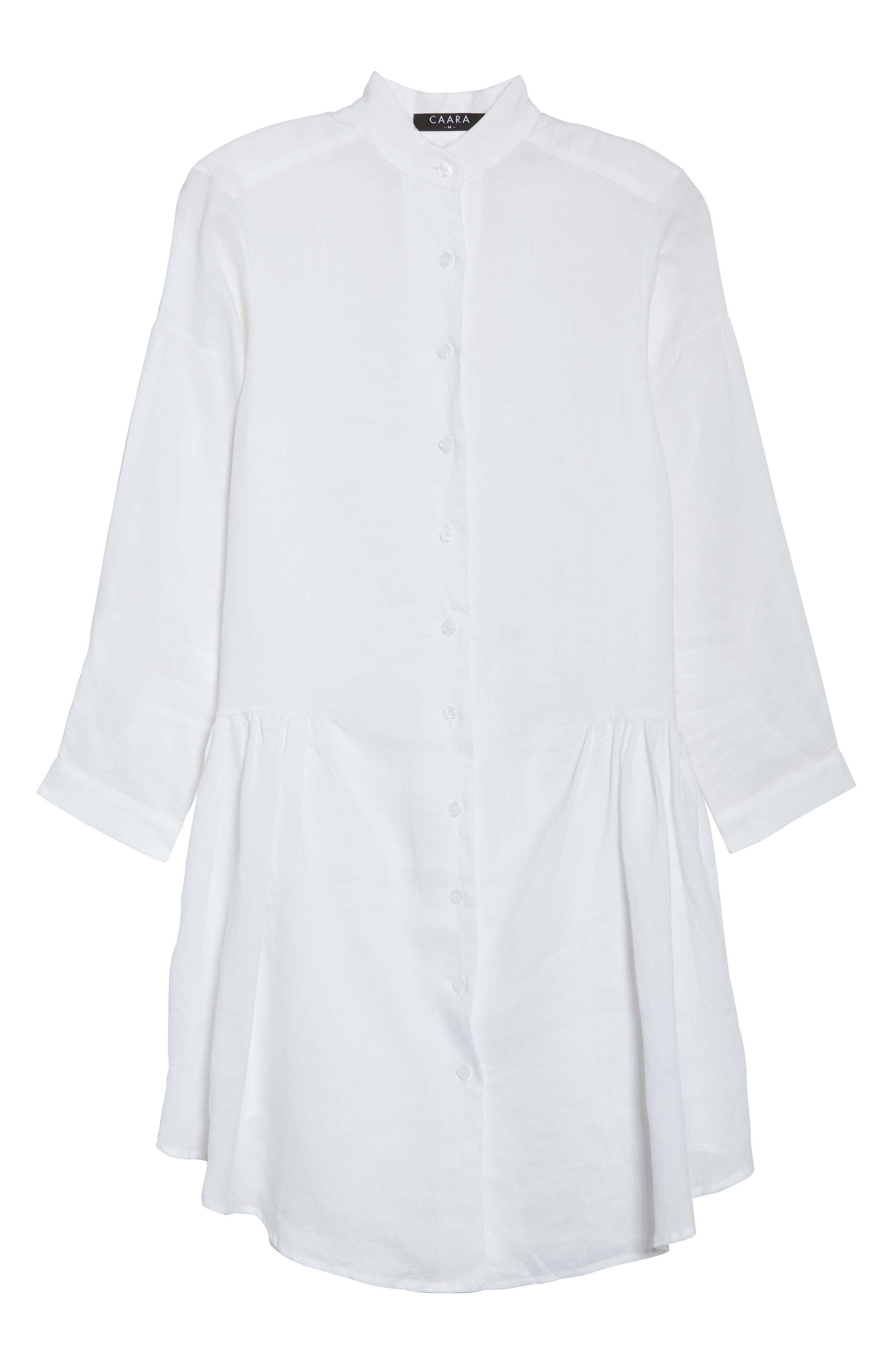 Tria Linen Shirtdress,                             Alternate thumbnail 6, color,